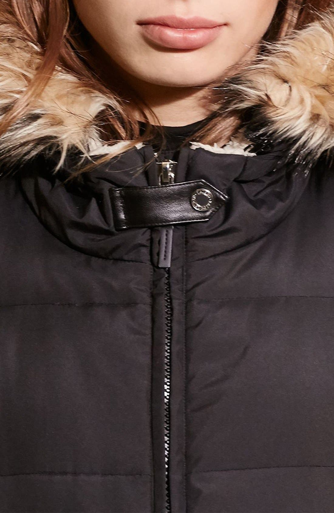 Quilted Parka,                             Alternate thumbnail 5, color,                             BLACK