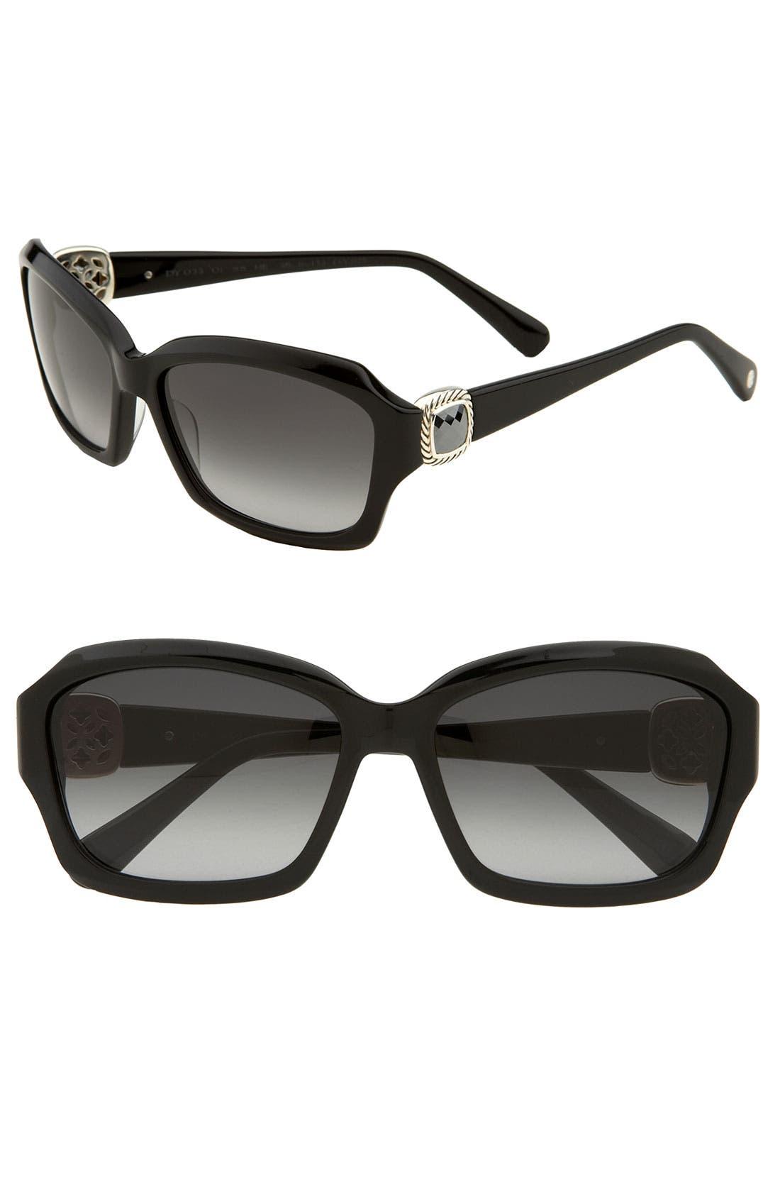 DAVID YURMAN,                             'Albion' Geometric Sunglasses,                             Main thumbnail 1, color,                             001