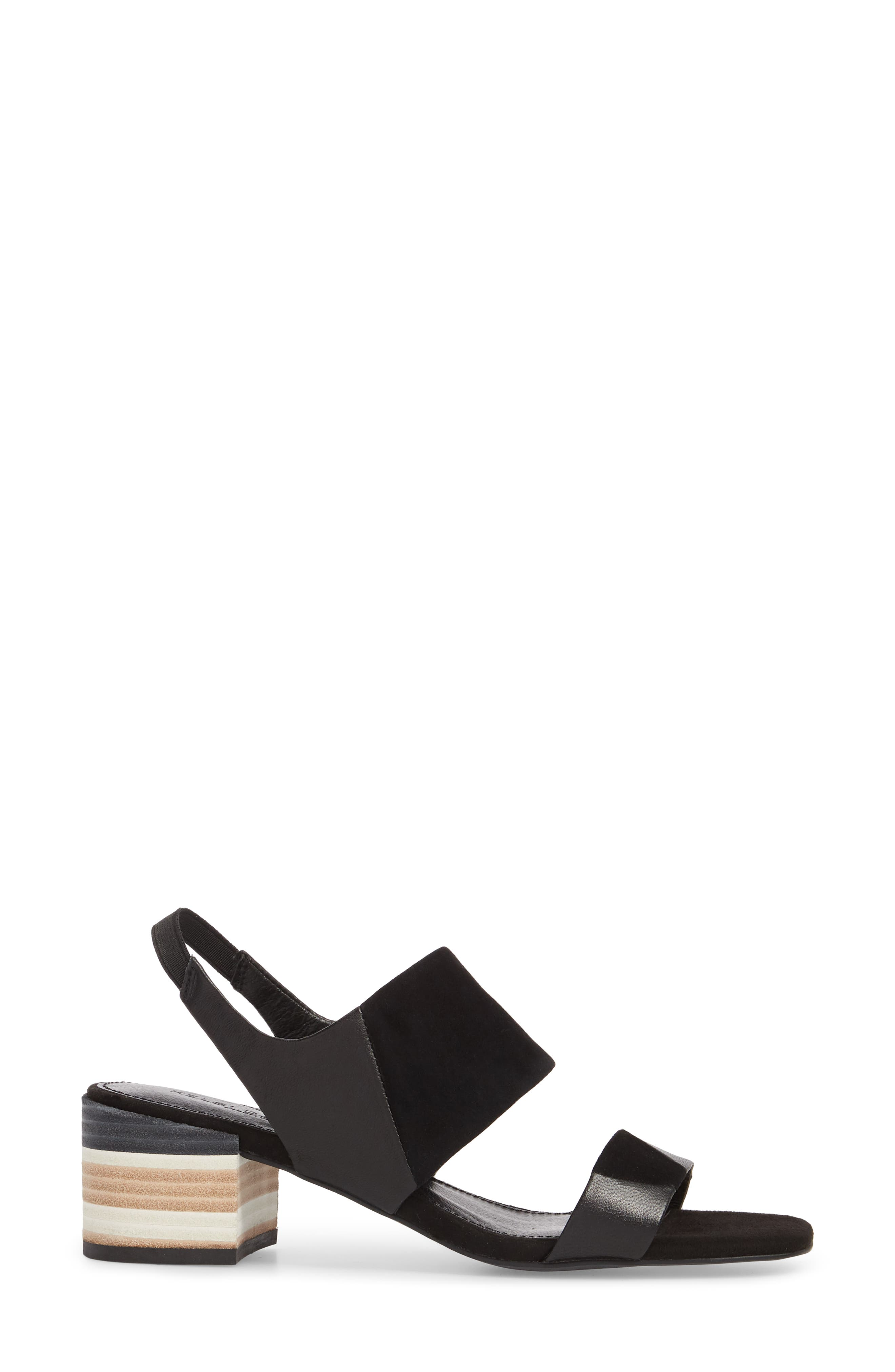 Shiloh Block Heel Sandal,                             Alternate thumbnail 3, color,                             001