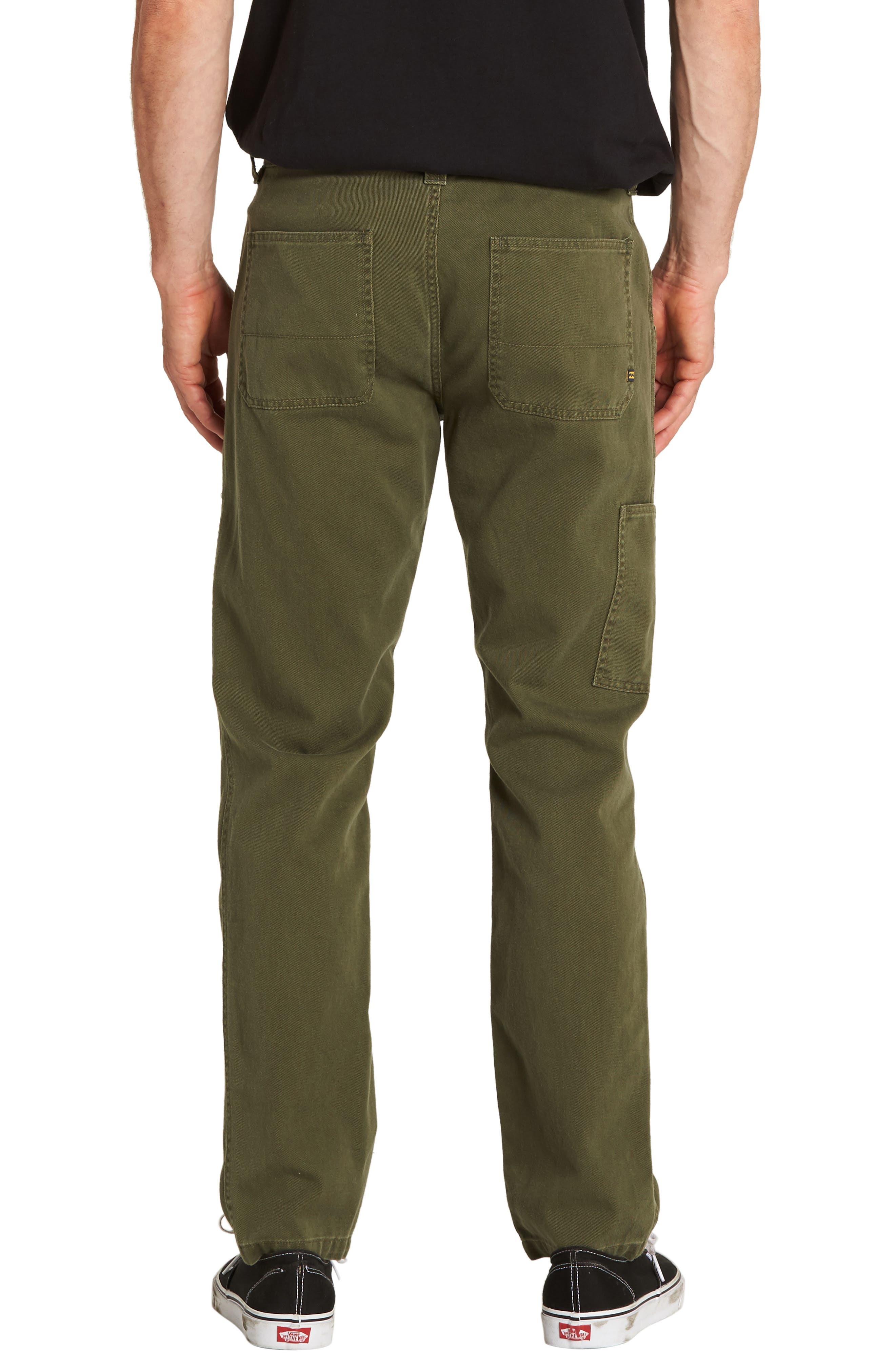 Collins Slim Straight Pants,                             Alternate thumbnail 2, color,                             MILITARY