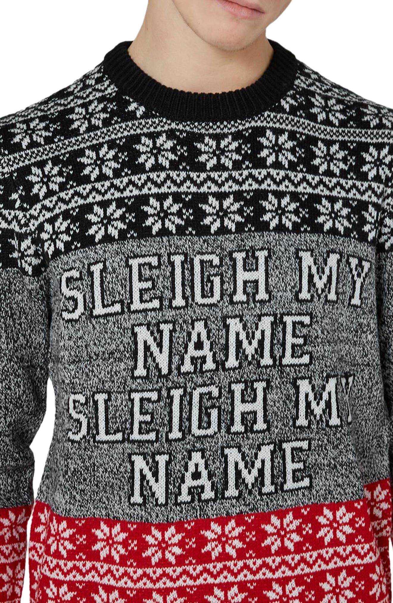 Sleigh My Name Sweater,                             Alternate thumbnail 2, color,