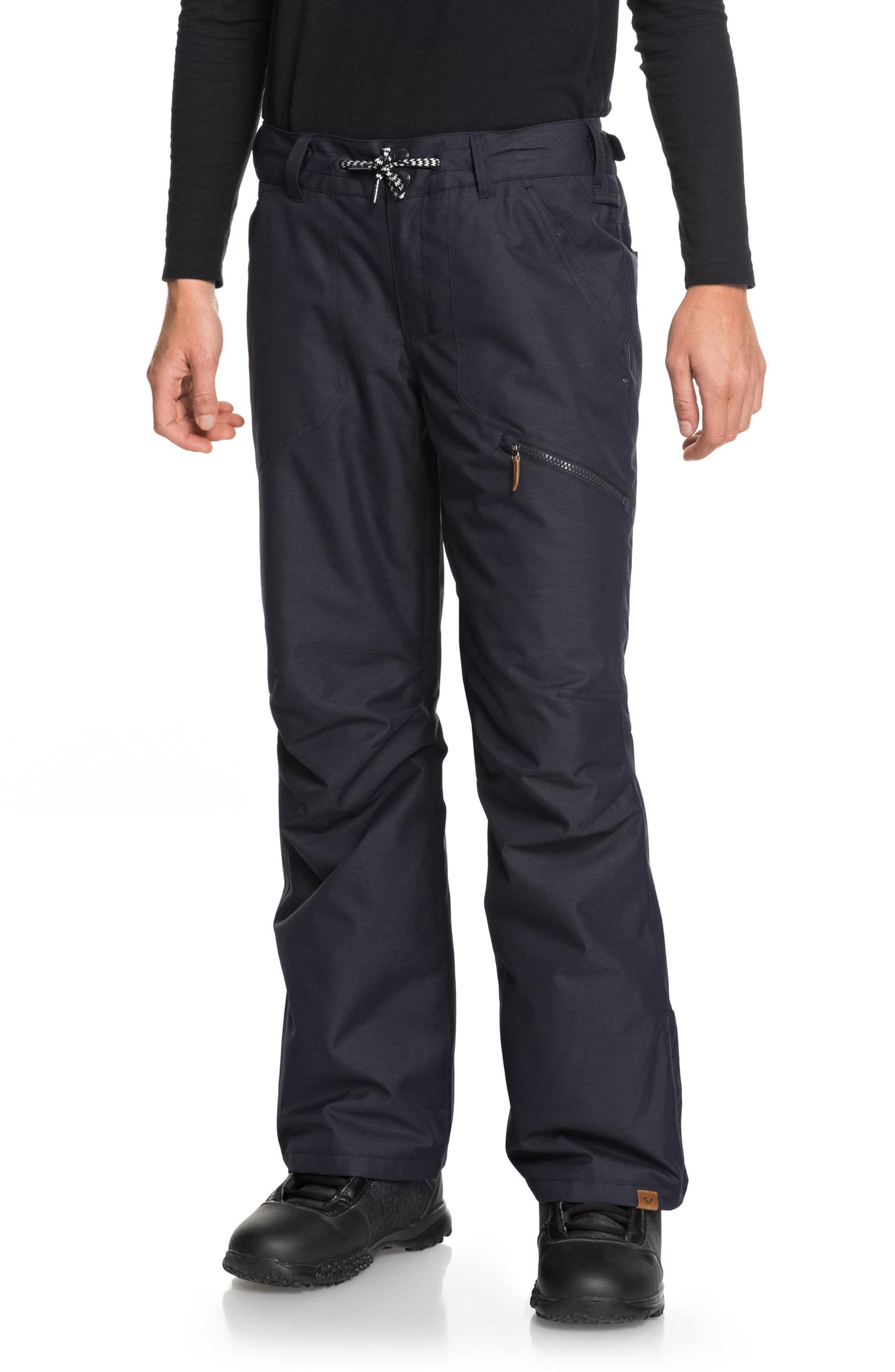 Roxy Nadia Waterproof Dryflight Warmflight Insulated Snow Pants, Black