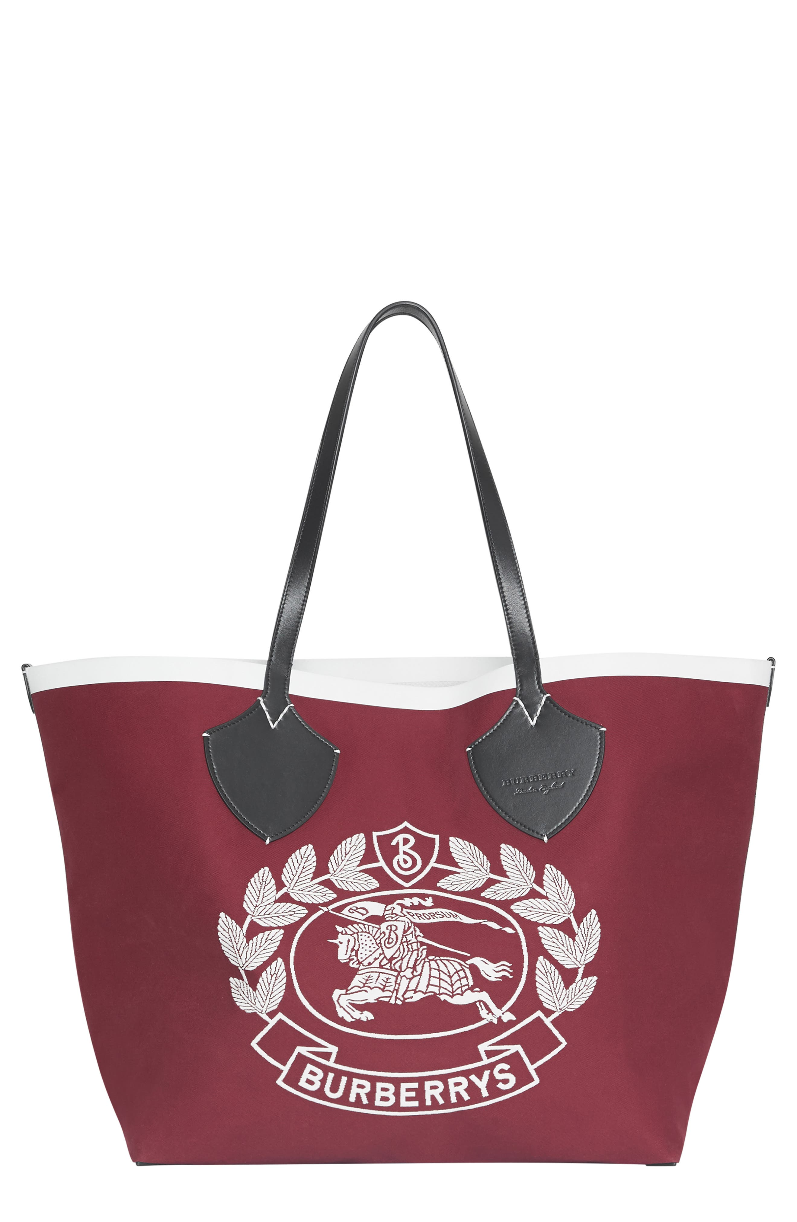 Large Giant Crest Reversible Canvas Tote,                         Main,                         color, 604