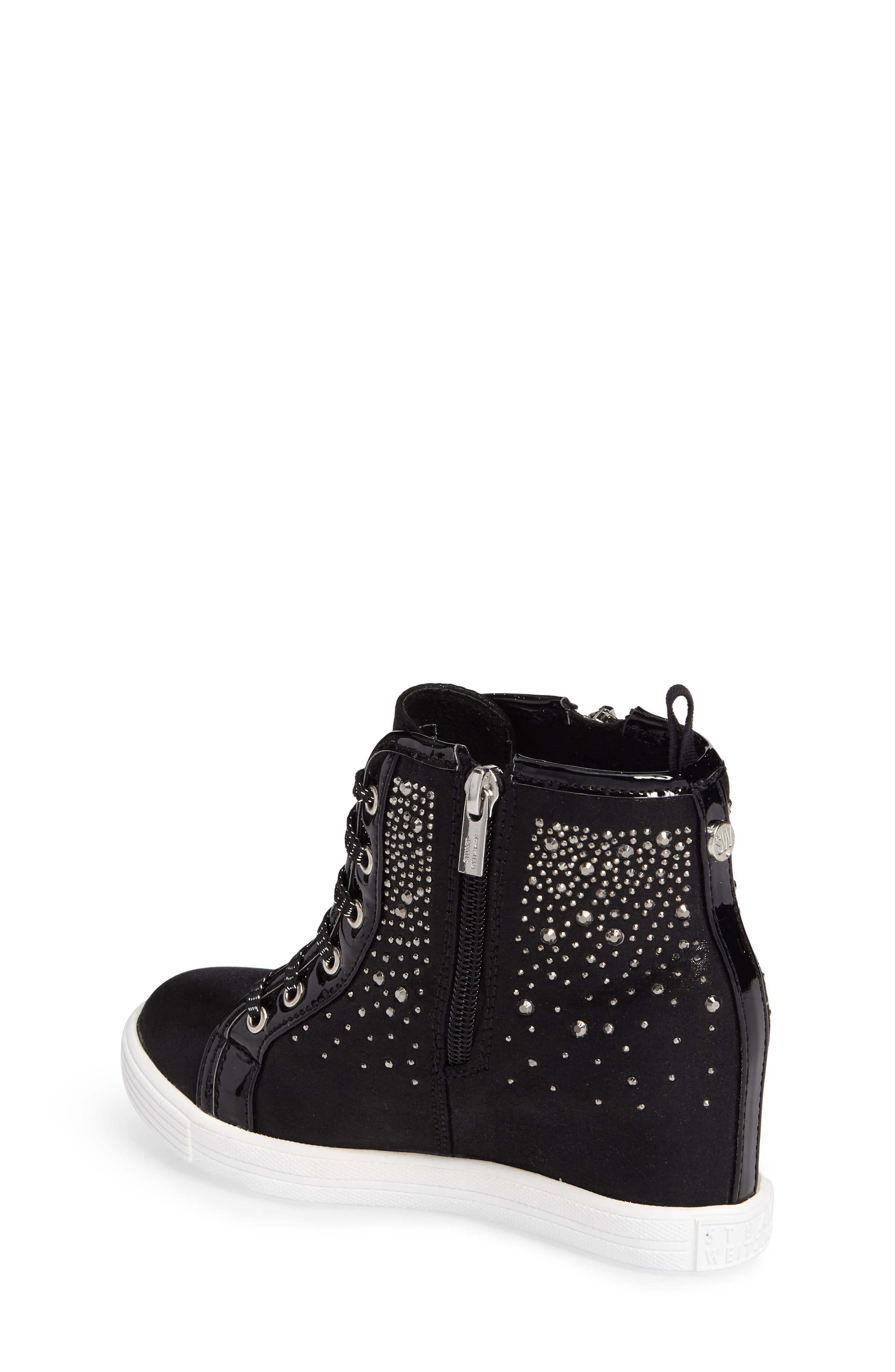 Vance Double Embellished Concealed Wedge High Top,                             Alternate thumbnail 2, color,                             001