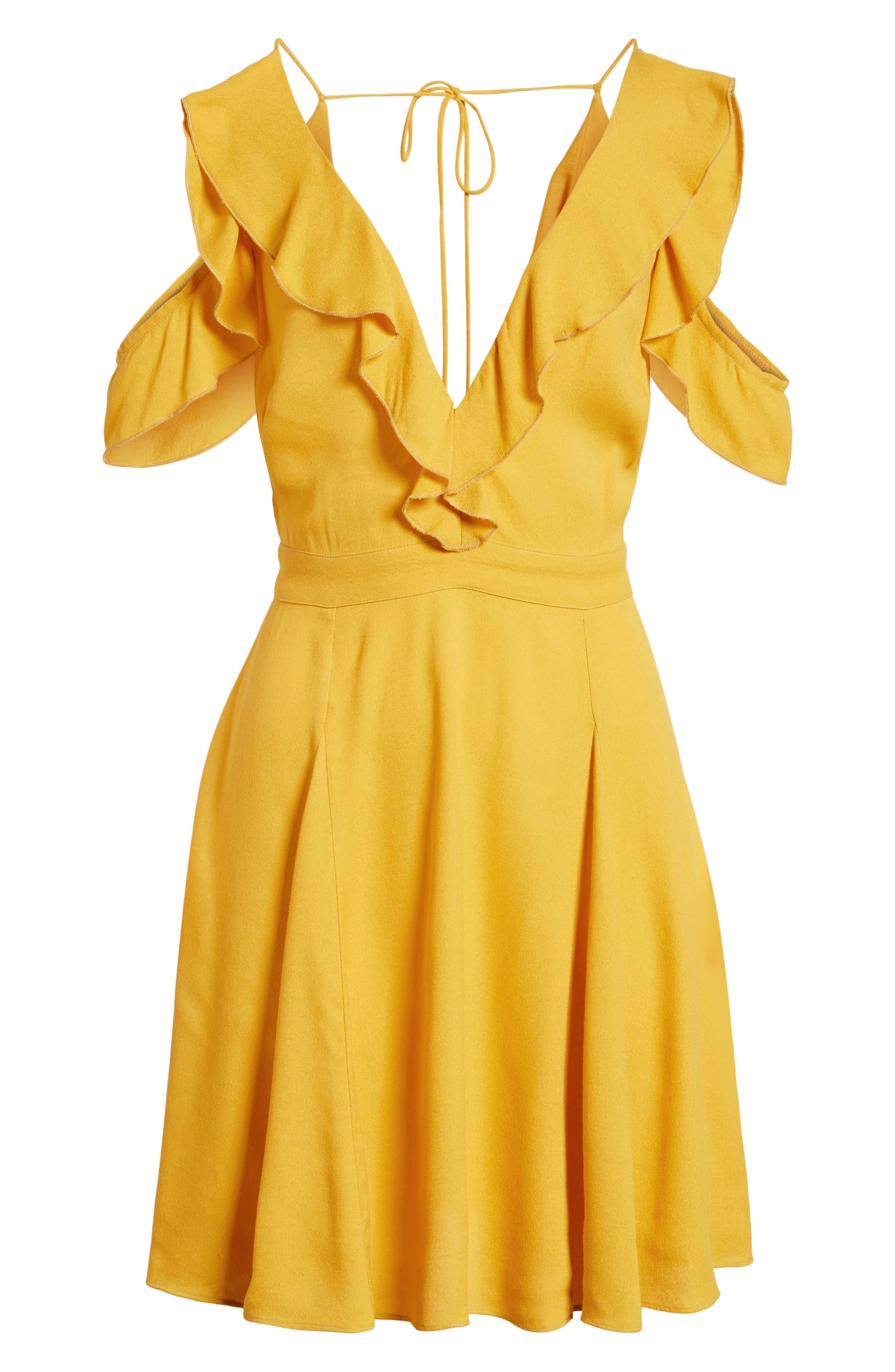 Enzo Cold Shoulder Fit & Flare Dress,                             Alternate thumbnail 7, color,