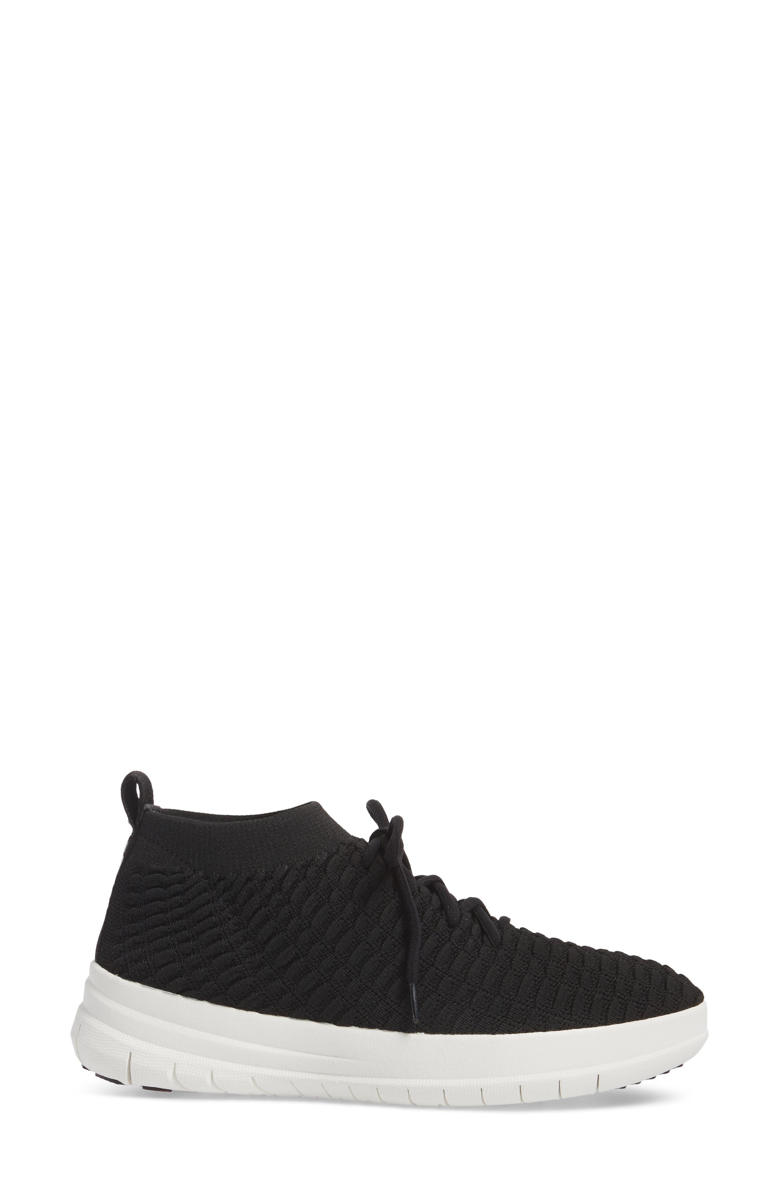 Uberknit<sup>™</sup> Slip-On High Top Sneaker,                             Alternate thumbnail 3, color,                             001