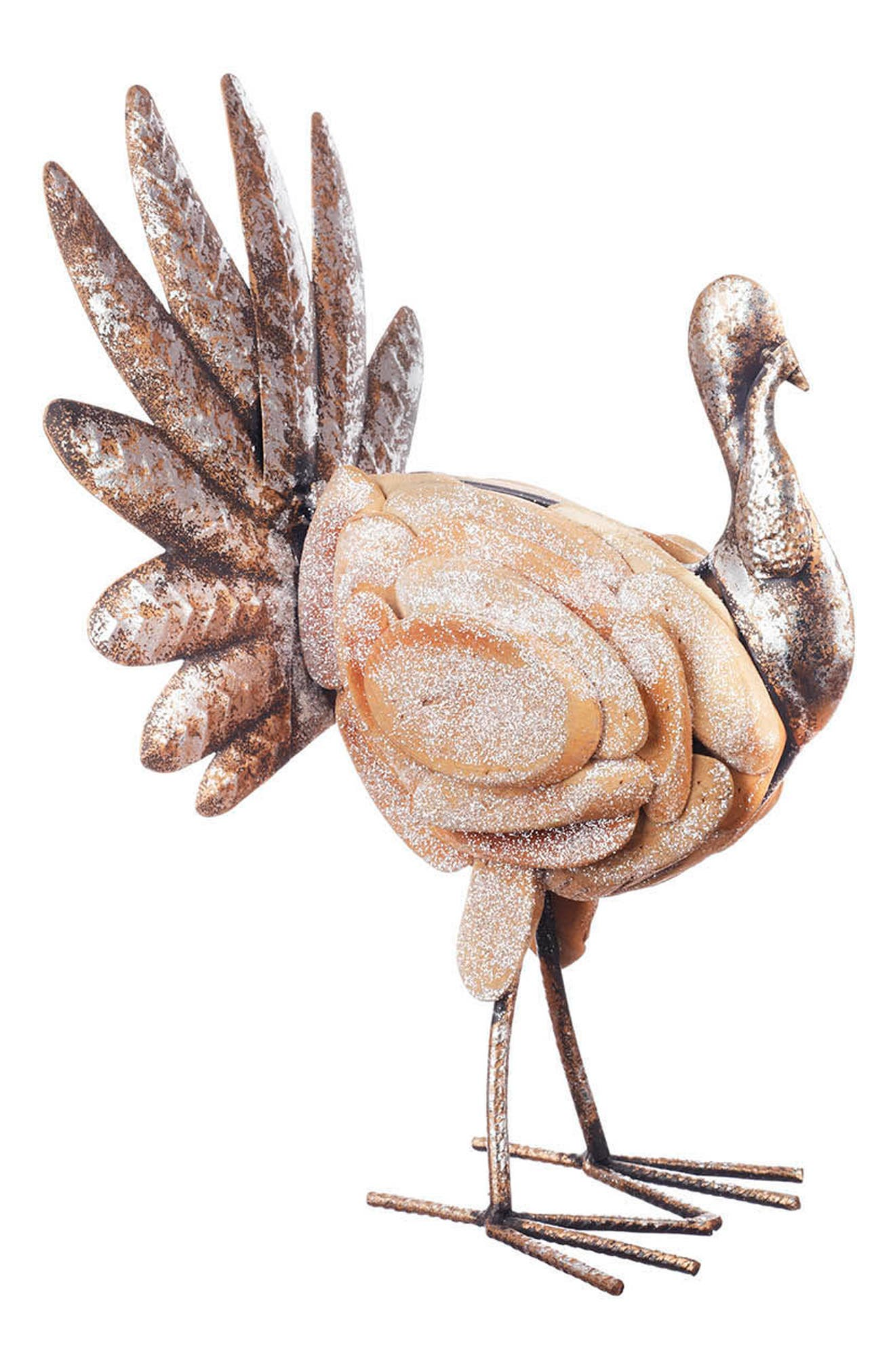 Hand Painted Thanksgiving Turkey,                             Alternate thumbnail 2, color,