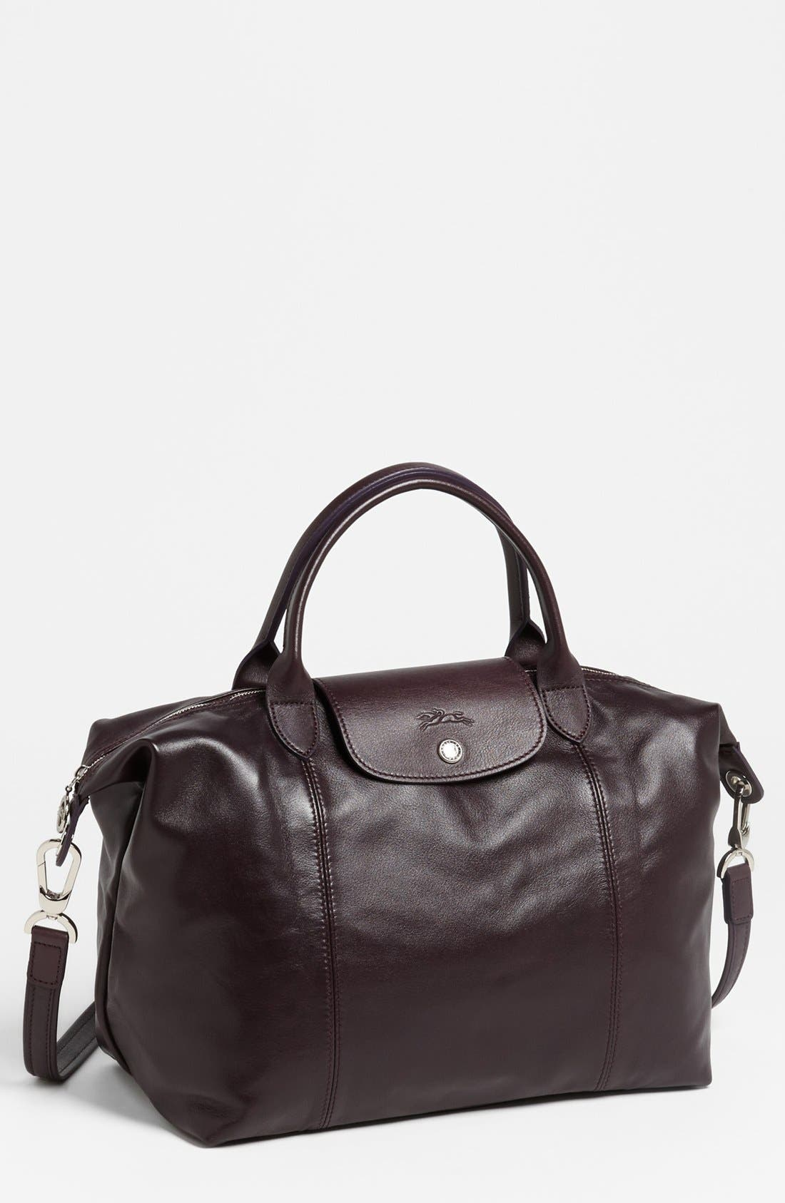 Medium 'Le Pliage Cuir' Leather Top Handle Tote,                             Main thumbnail 21, color,