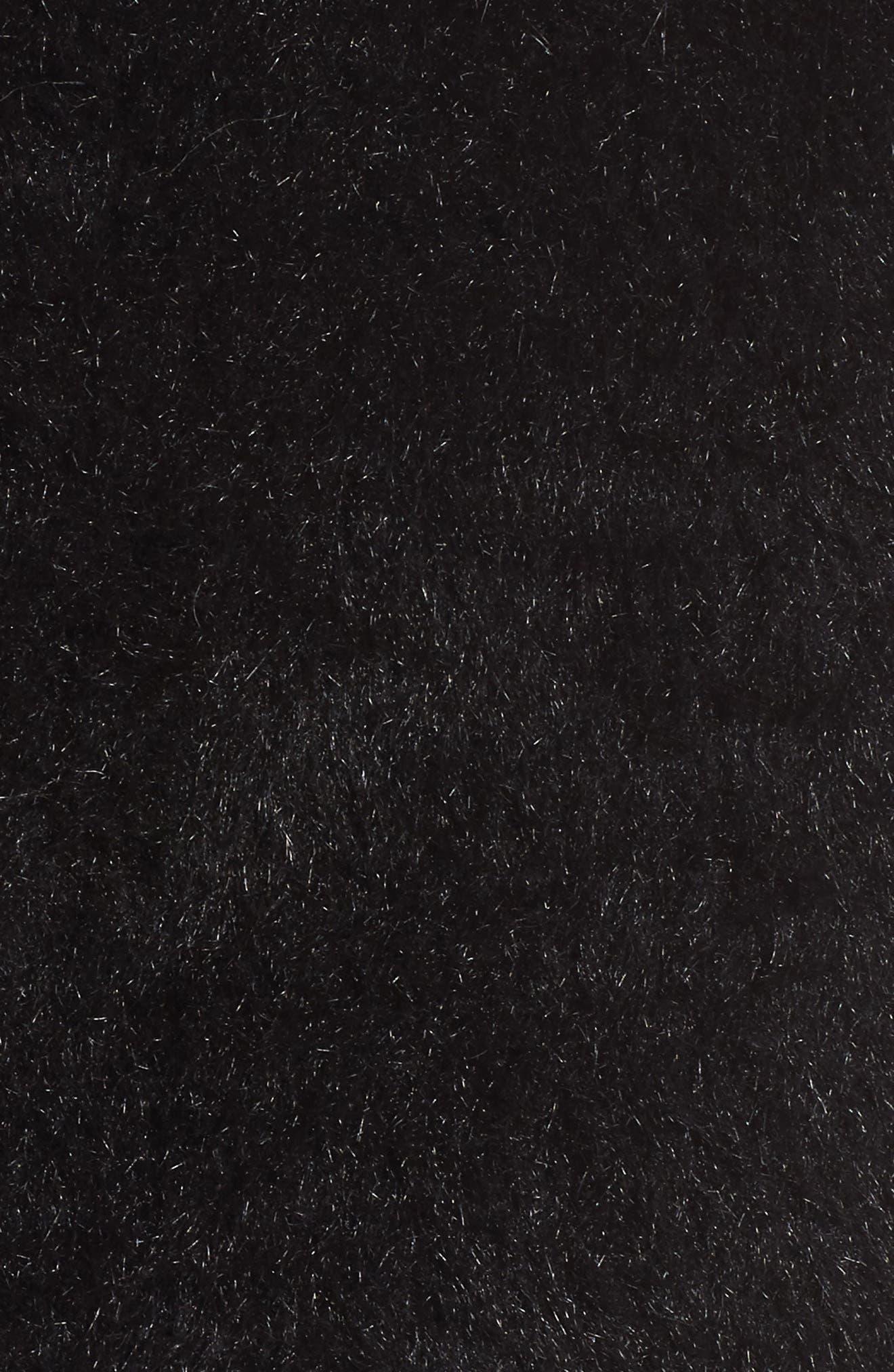 Kimmy Patchwork Faux Fur & Faux Suede Vest,                             Alternate thumbnail 5, color,                             001