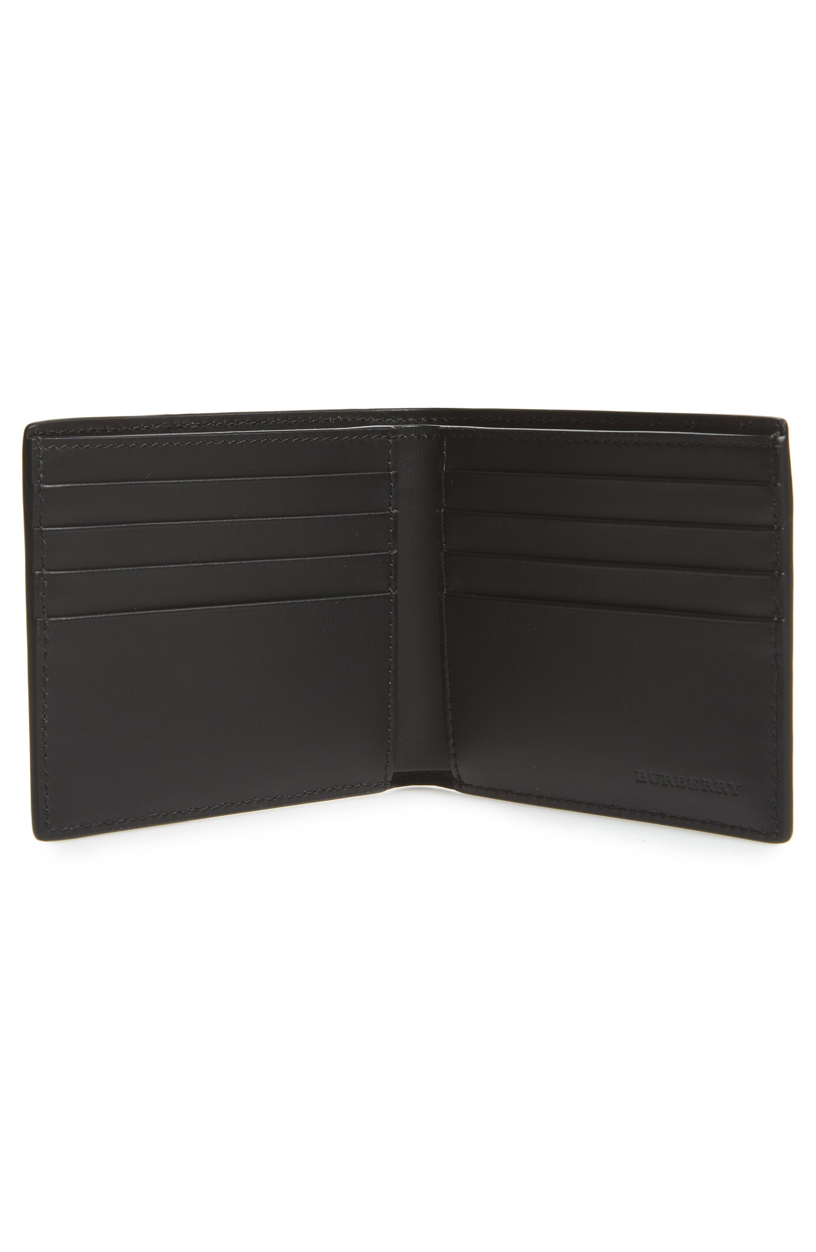 BURBERRY,                             Wallet,                             Alternate thumbnail 2, color,                             ANTIQUE YELLOW/ BLACK