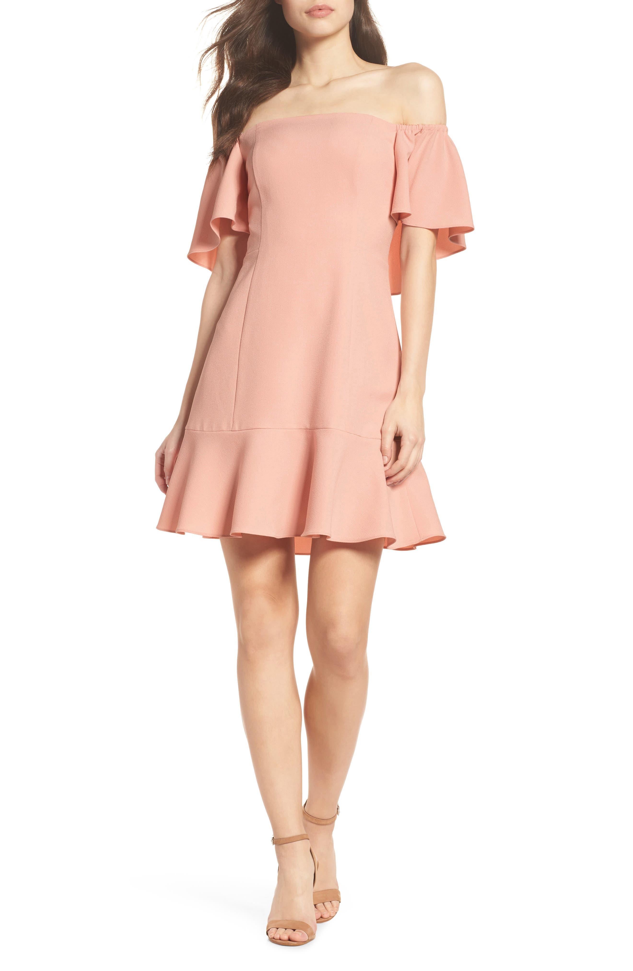 Off the Shoulder Dress,                         Main,                         color, 684