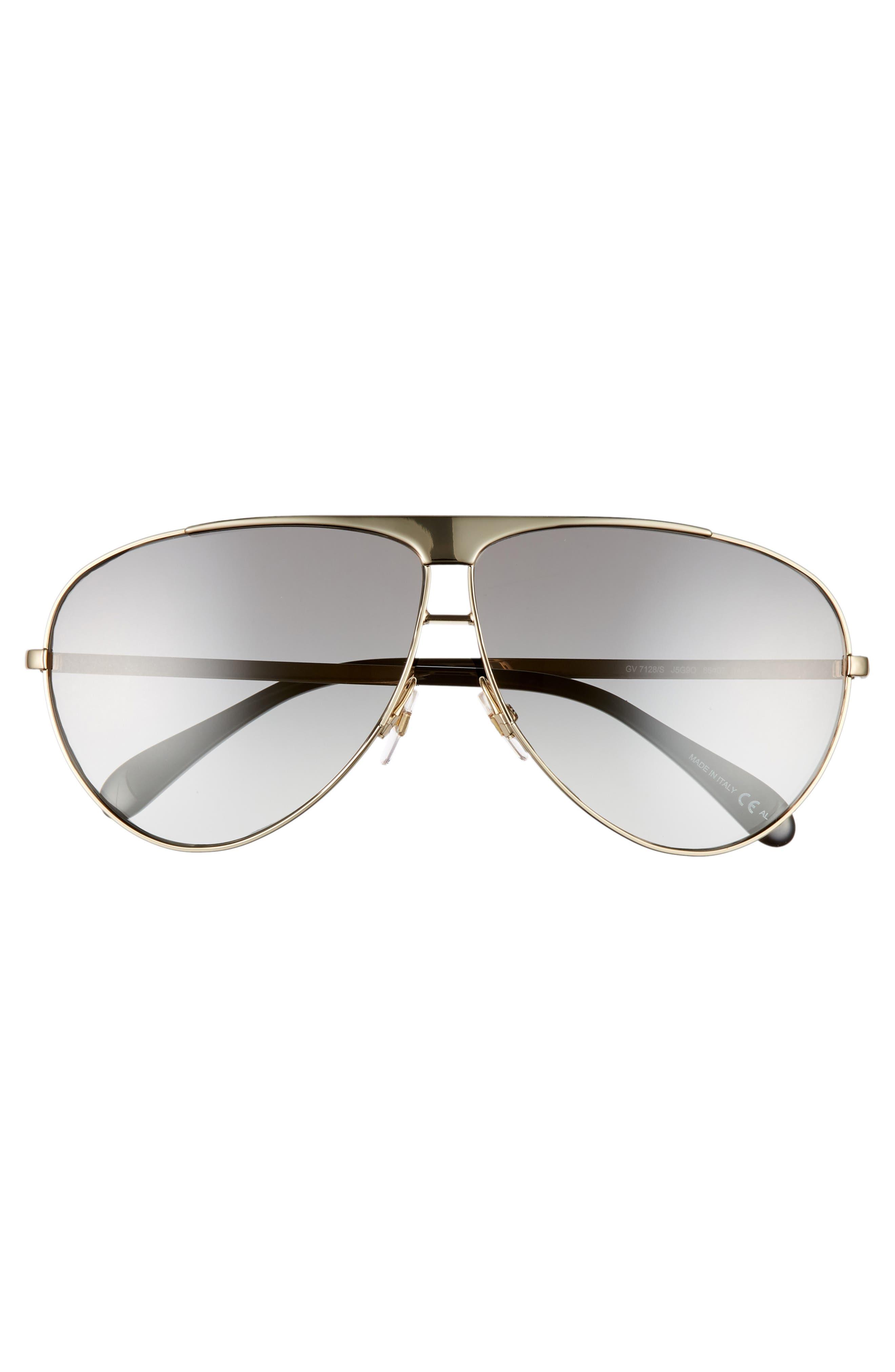 66mm Aviator Sunglasses,                             Alternate thumbnail 3, color,                             710
