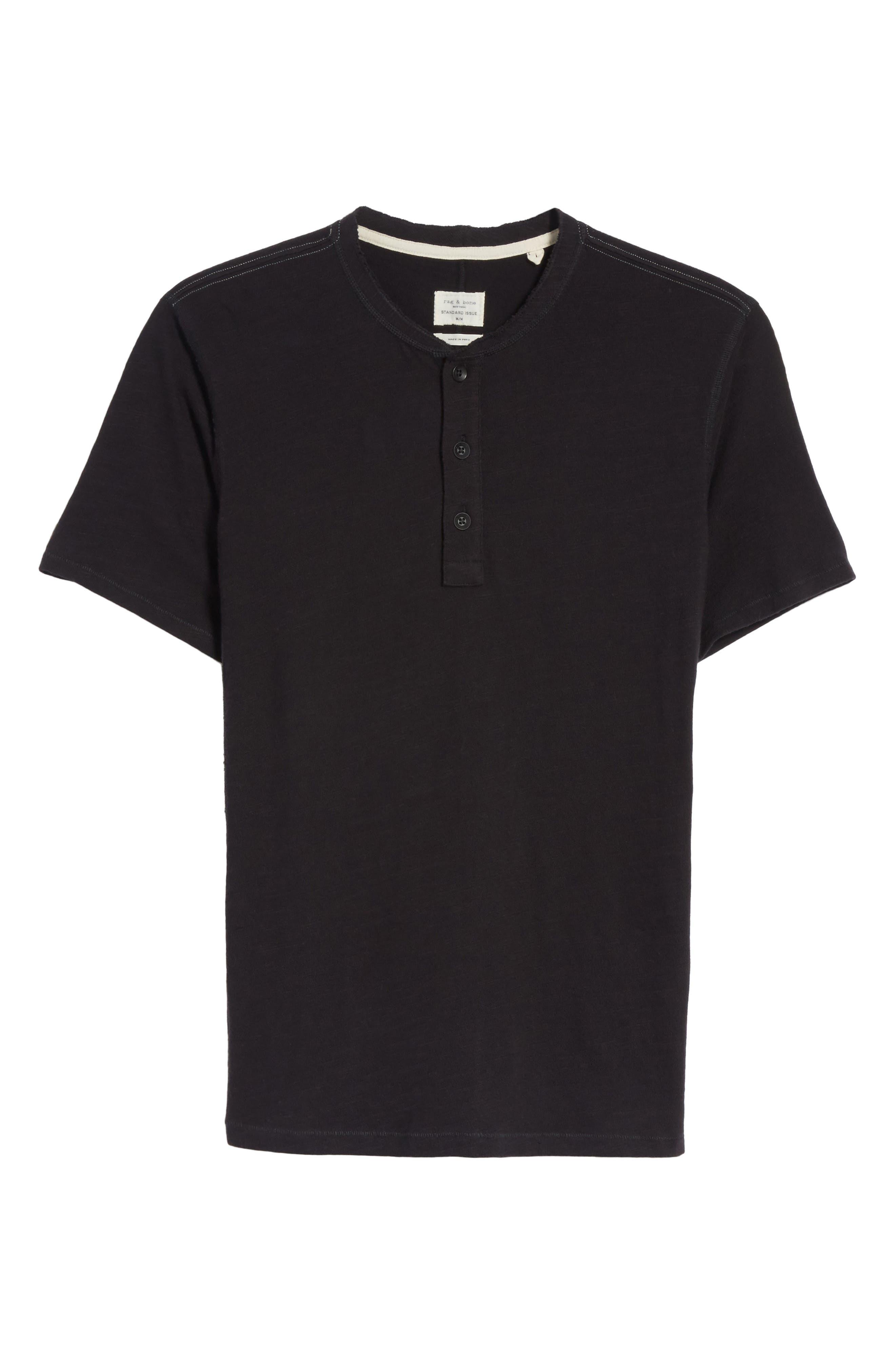 Standard Issue Henley T-Shirt,                             Alternate thumbnail 6, color,                             BLACK