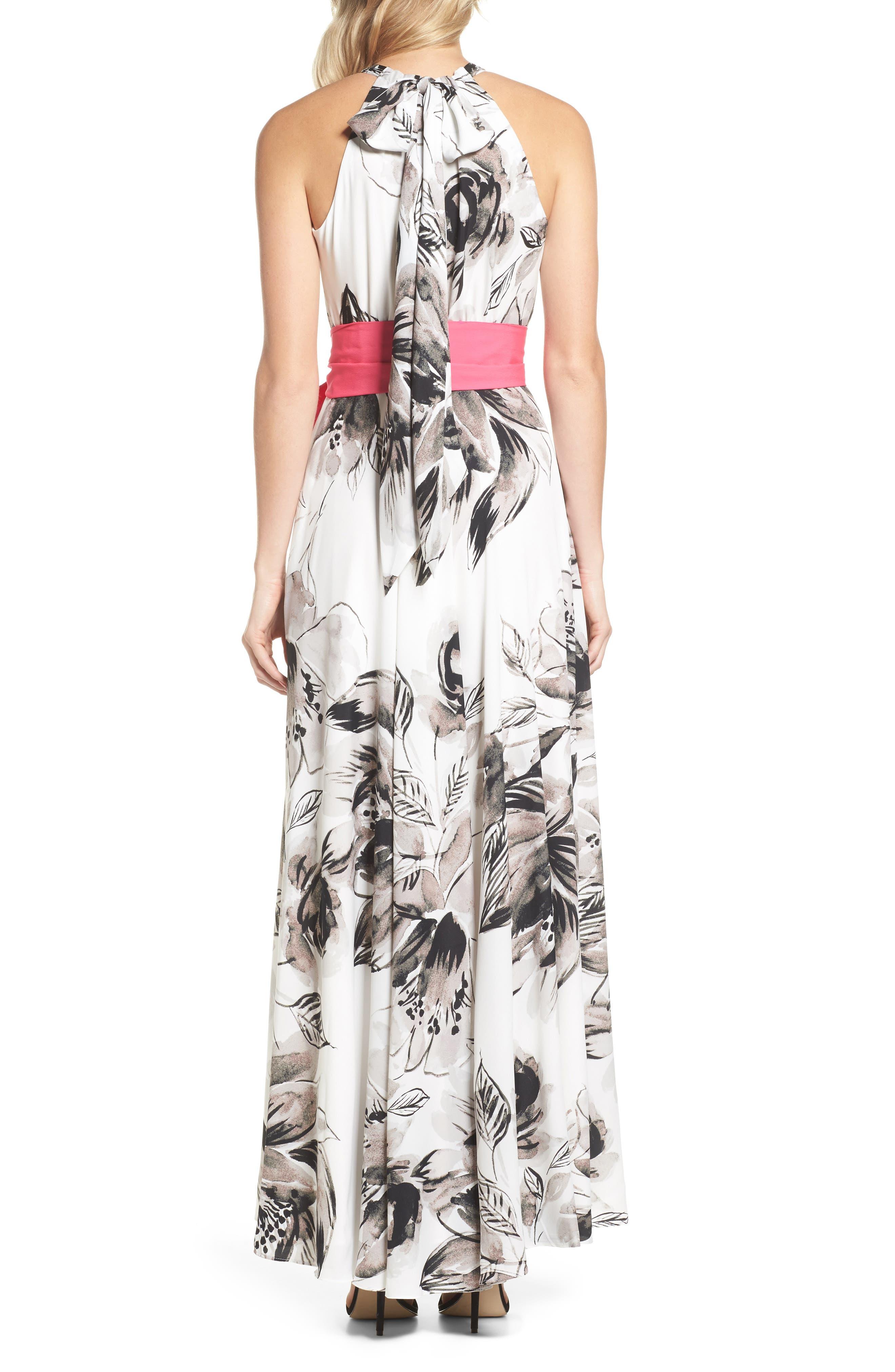 Chiffon Maxi Dress,                             Alternate thumbnail 2, color,                             011