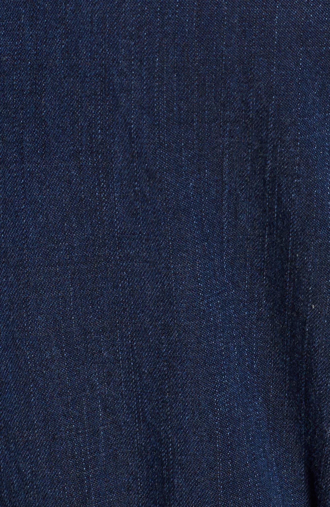 Denim Shirtdress,                             Alternate thumbnail 5, color,                             419