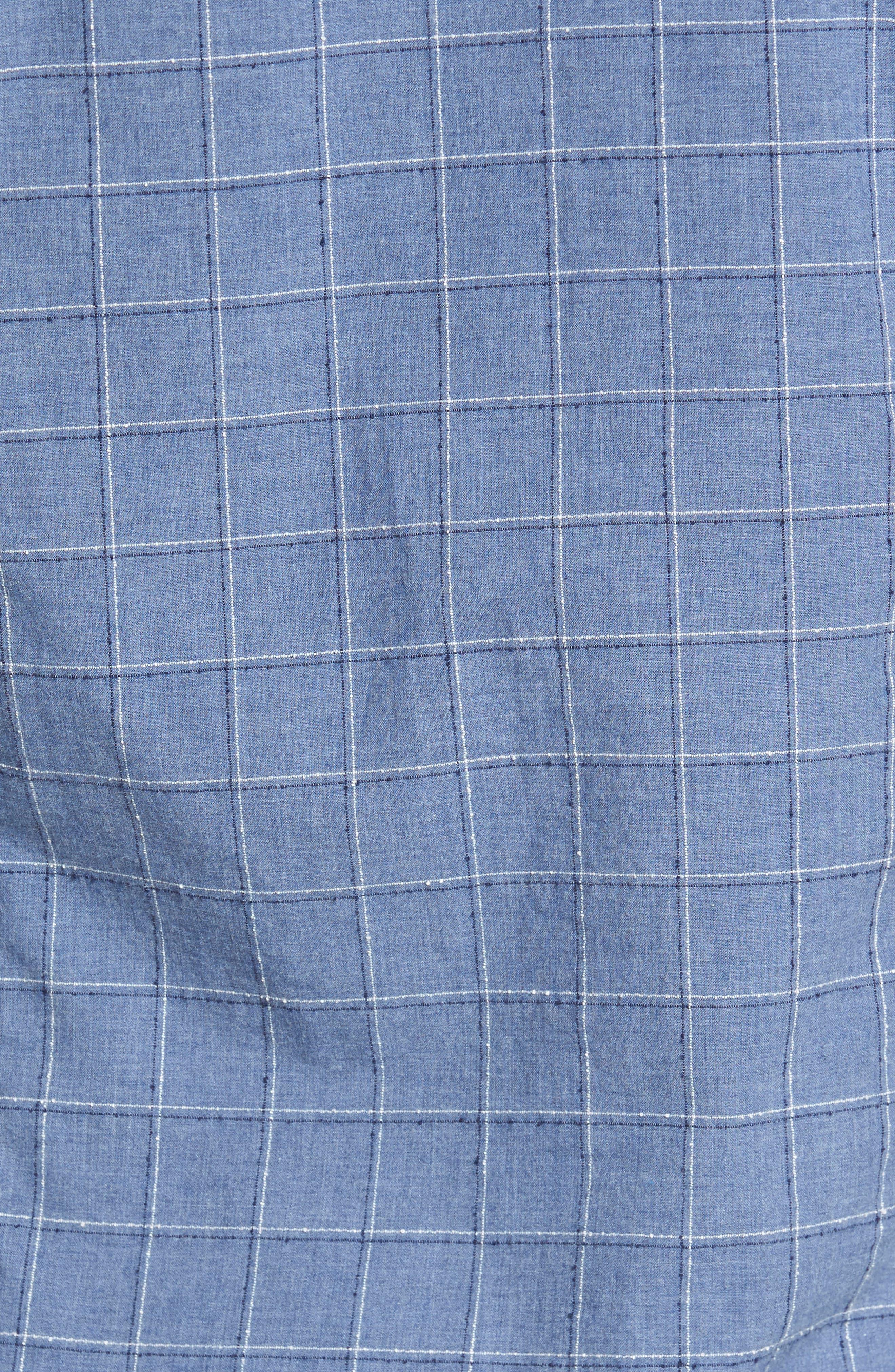 BOSS Lance Slim Fit Check Sport Shirt,                             Alternate thumbnail 5, color,                             489