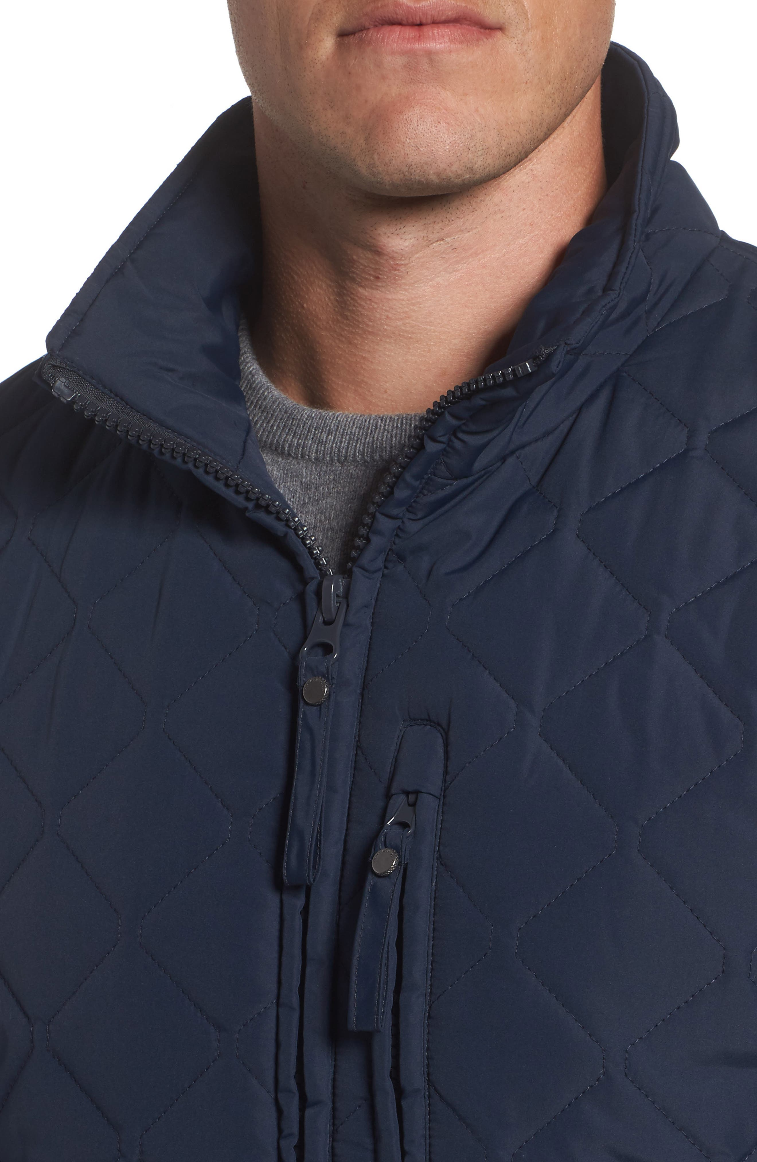 Faux Shearling Lined Quilted Jacket,                             Alternate thumbnail 8, color,