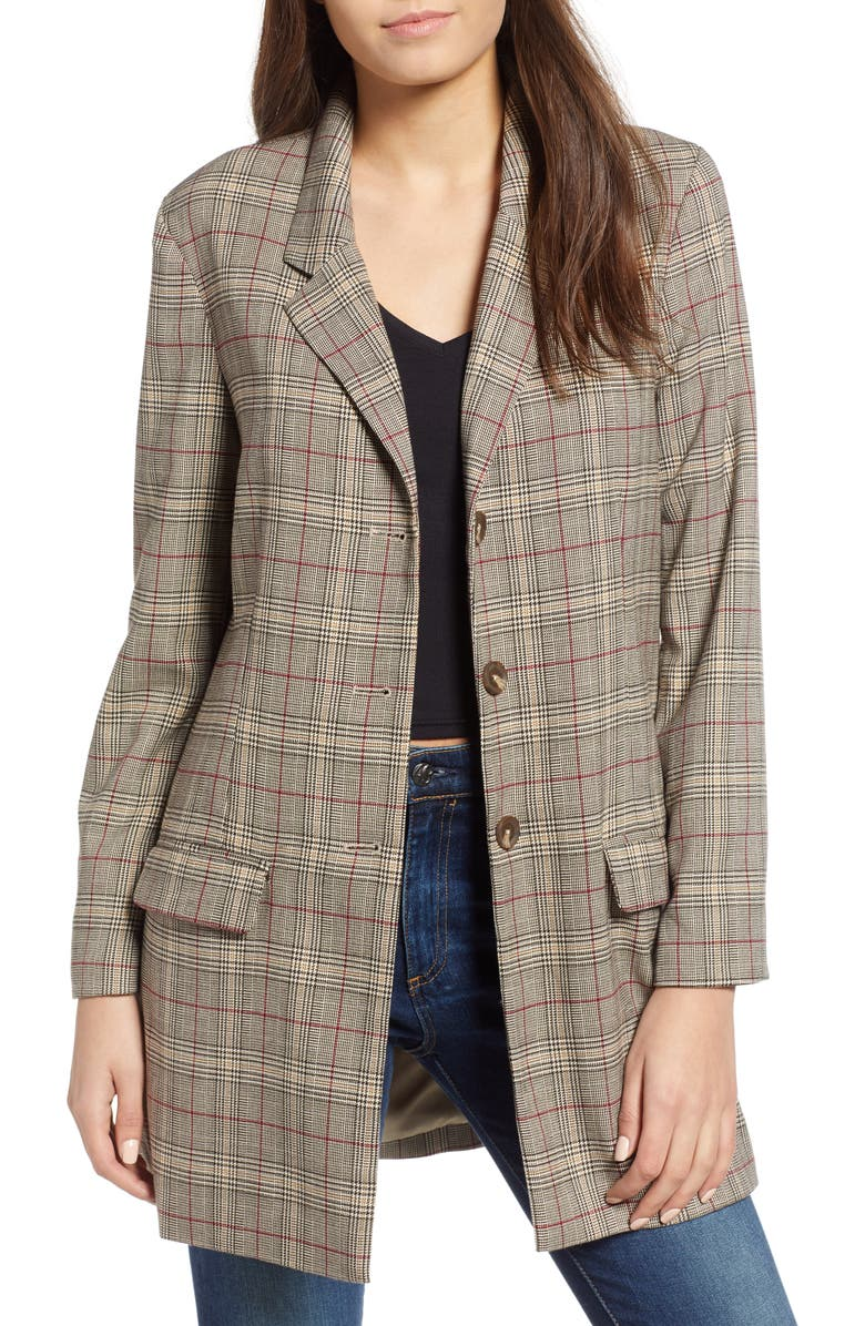 Bb Dakota EX-BOYFRIEND PLAID BLAZER