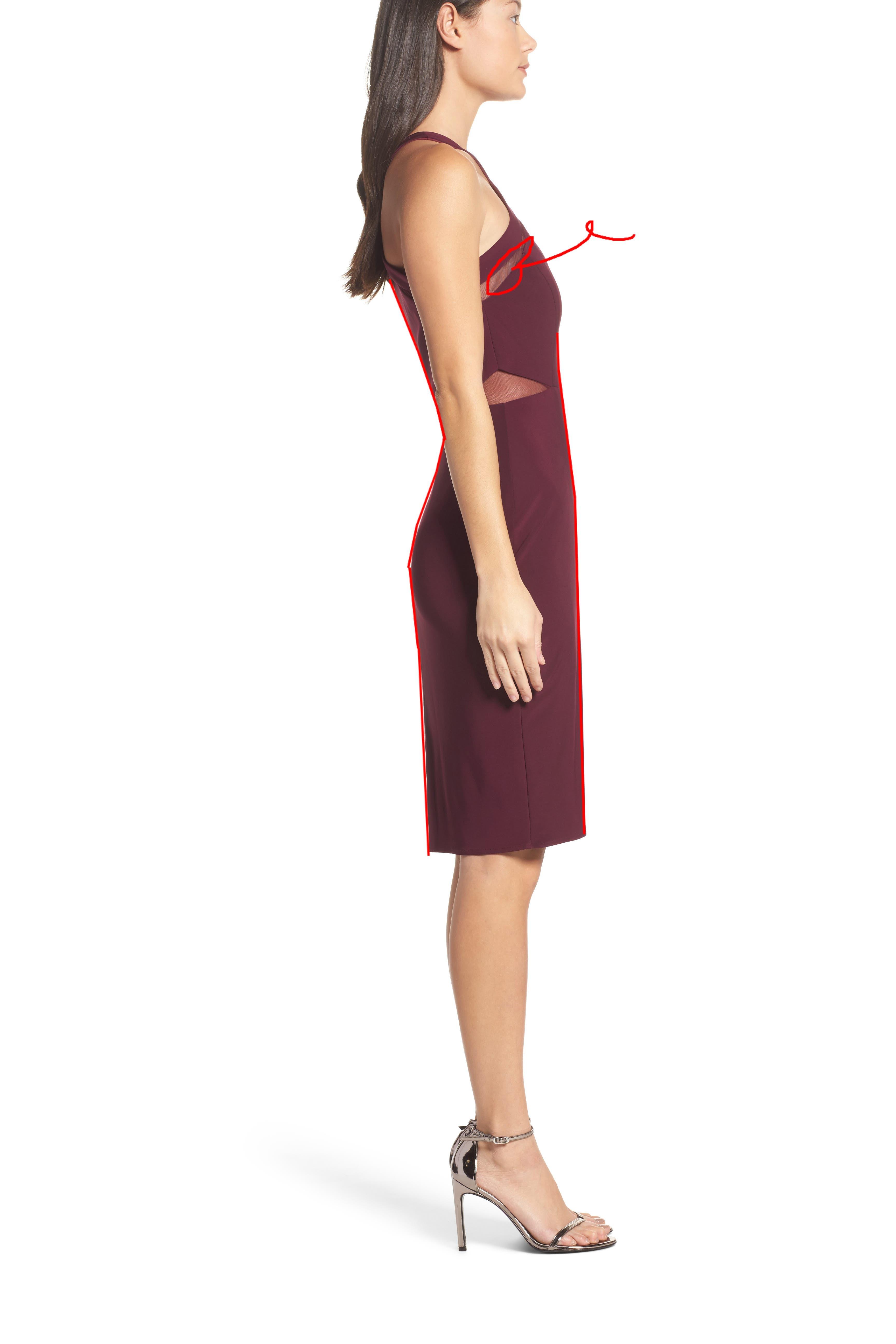 Jasmine Floral Pleated Fit & Flare Dress,                             Alternate thumbnail 3, color,                             651