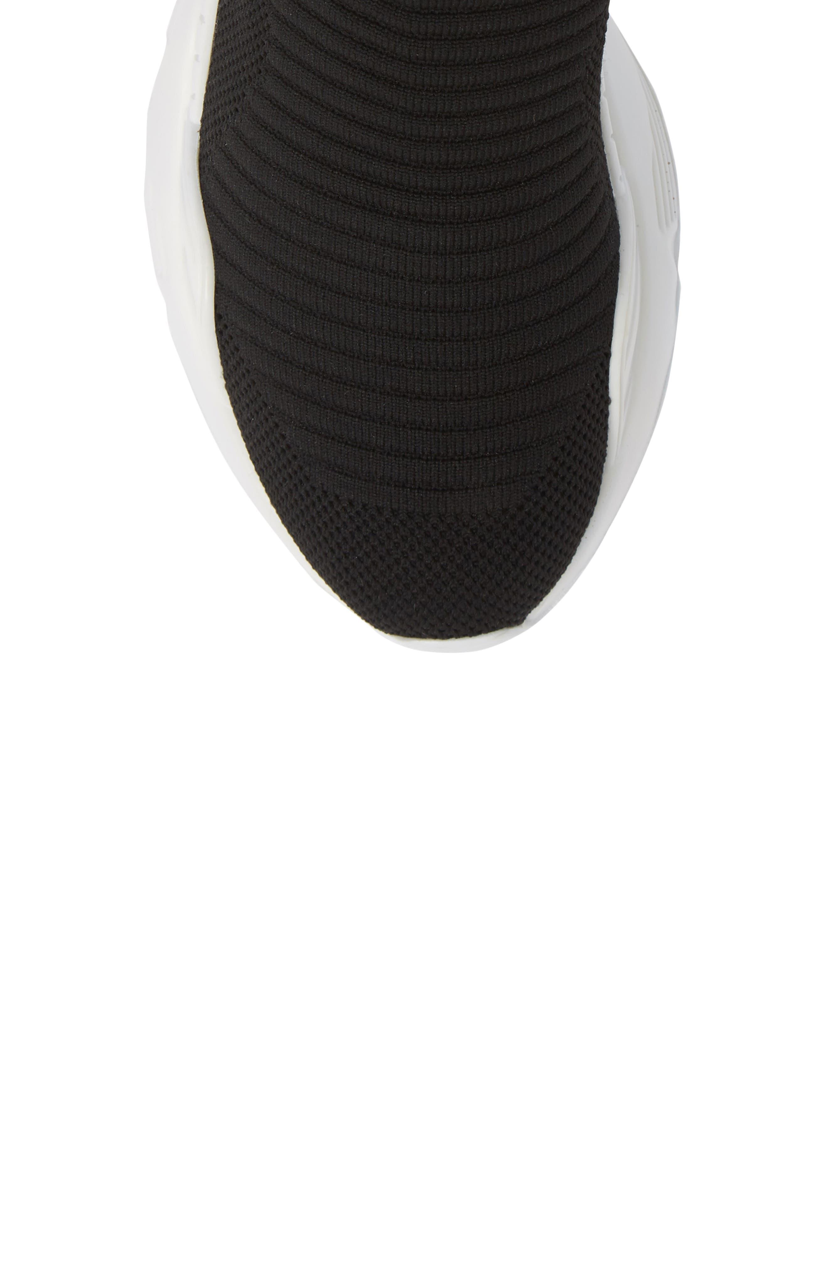 Interweb Cuff Knit Sneaker,                             Alternate thumbnail 5, color,                             014