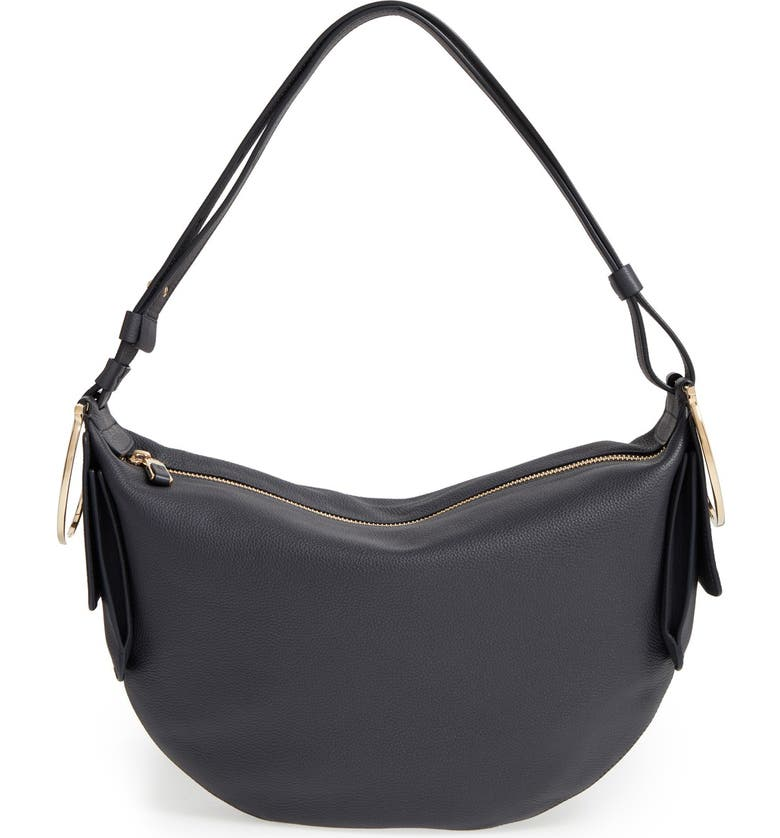 cfaae610a505 Salvatore Ferragamo  Small Badia  Pebbled Leather Hobo Bag