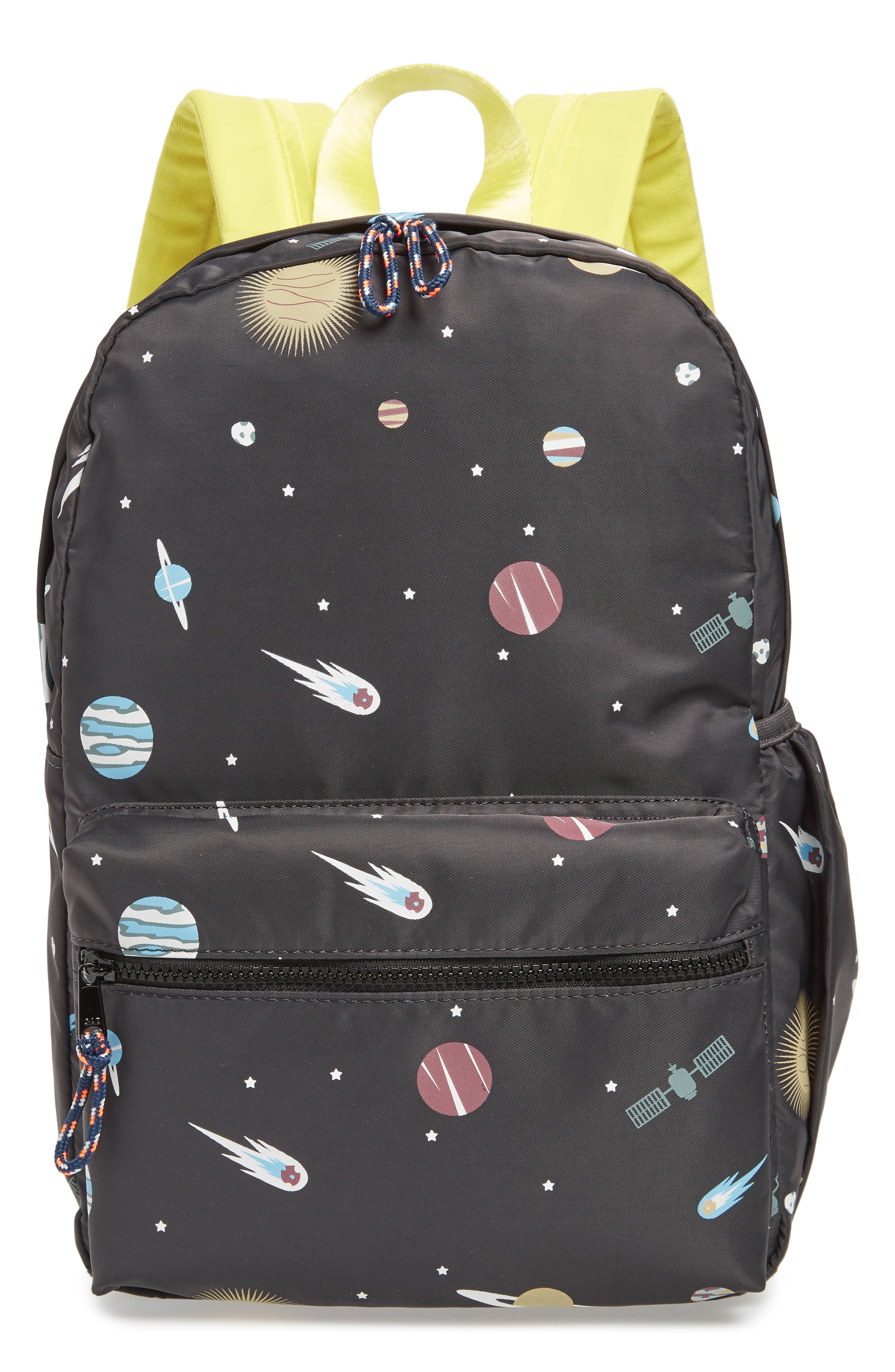 Glow in the Dark Space Print Backpack,                         Main,                         color,