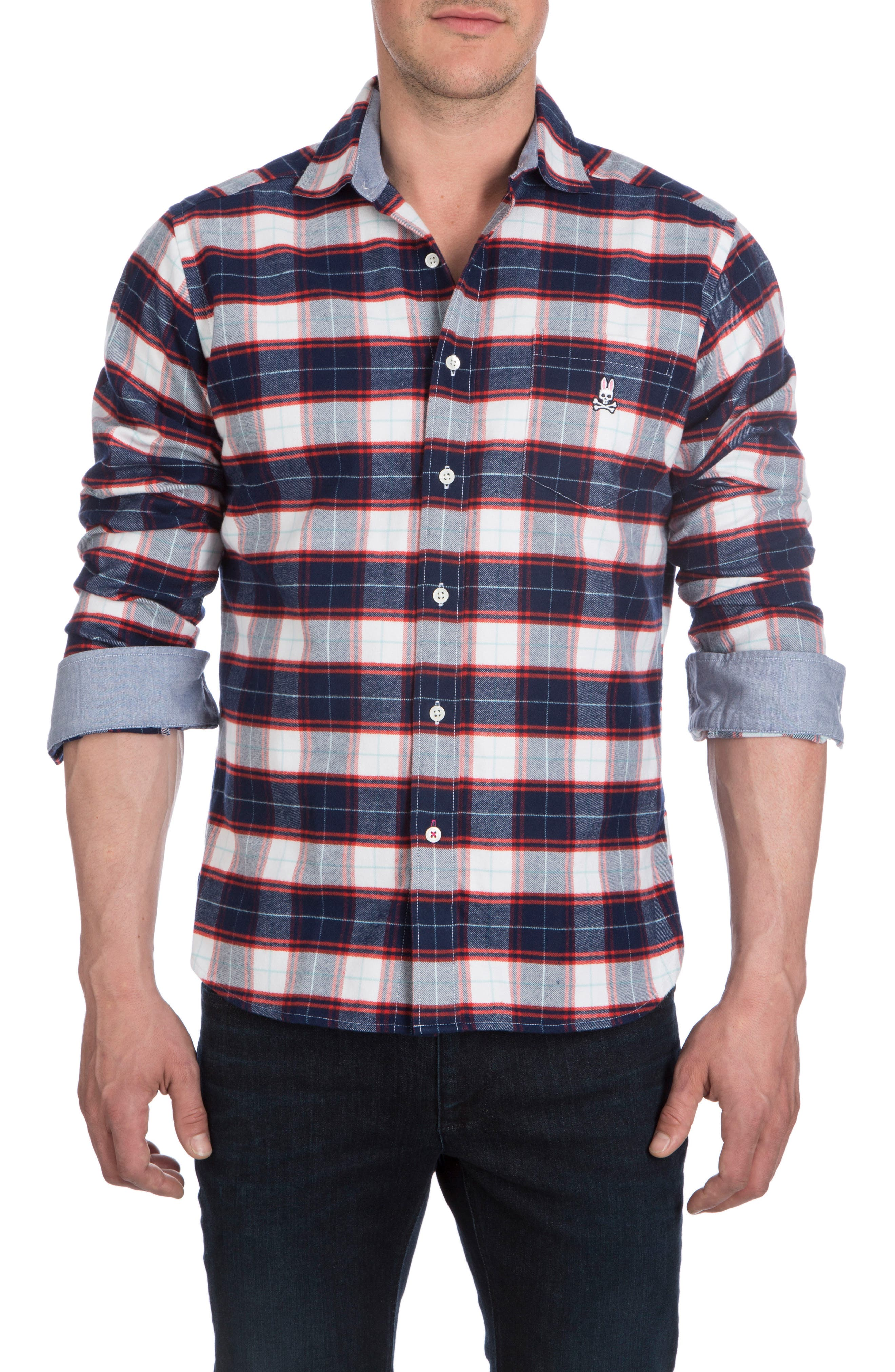 Flannel Sport Shirt,                             Alternate thumbnail 4, color,                             416