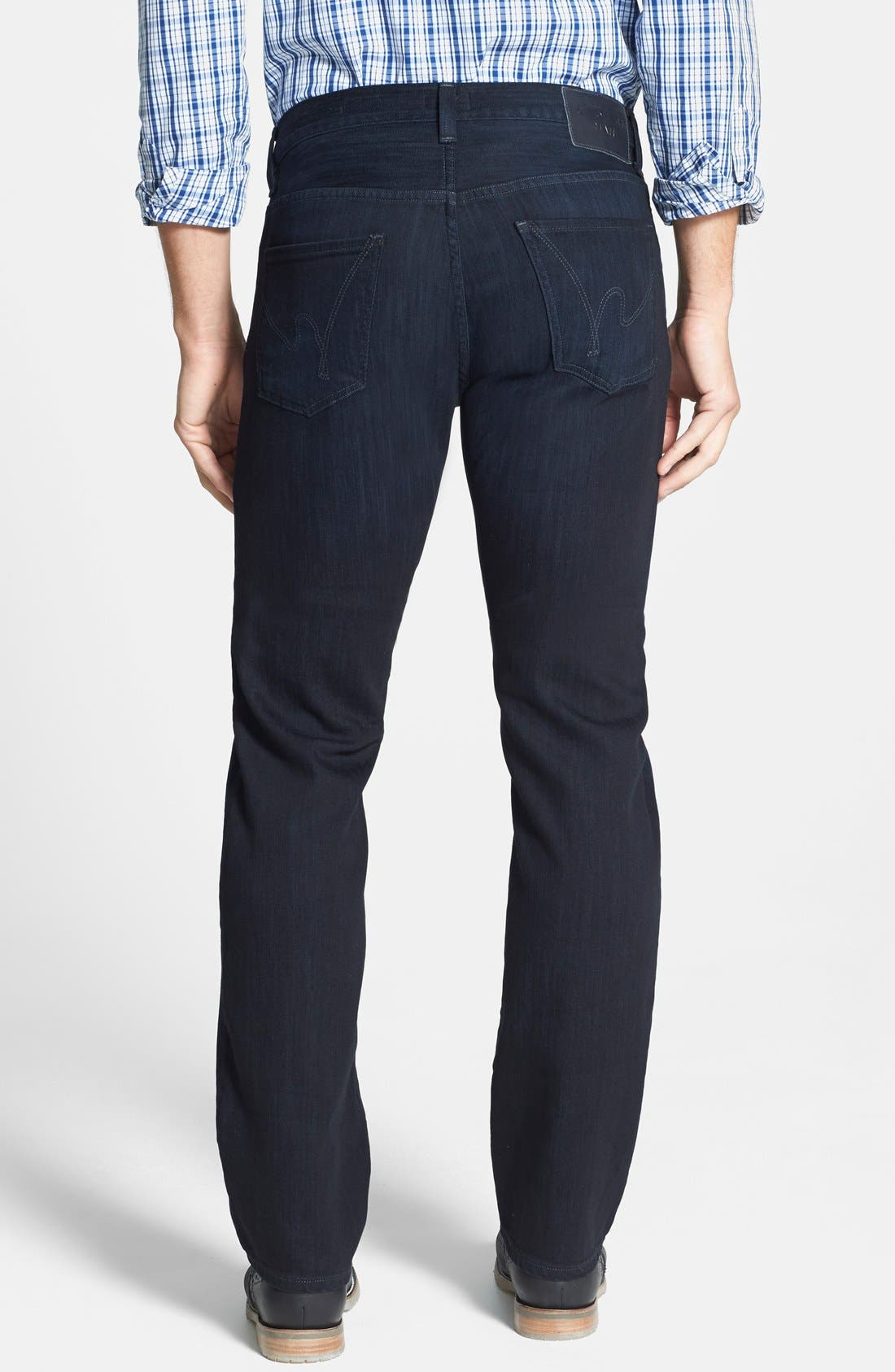 Sid Classic Straight Leg Jeans,                             Alternate thumbnail 4, color,                             REESE WASH