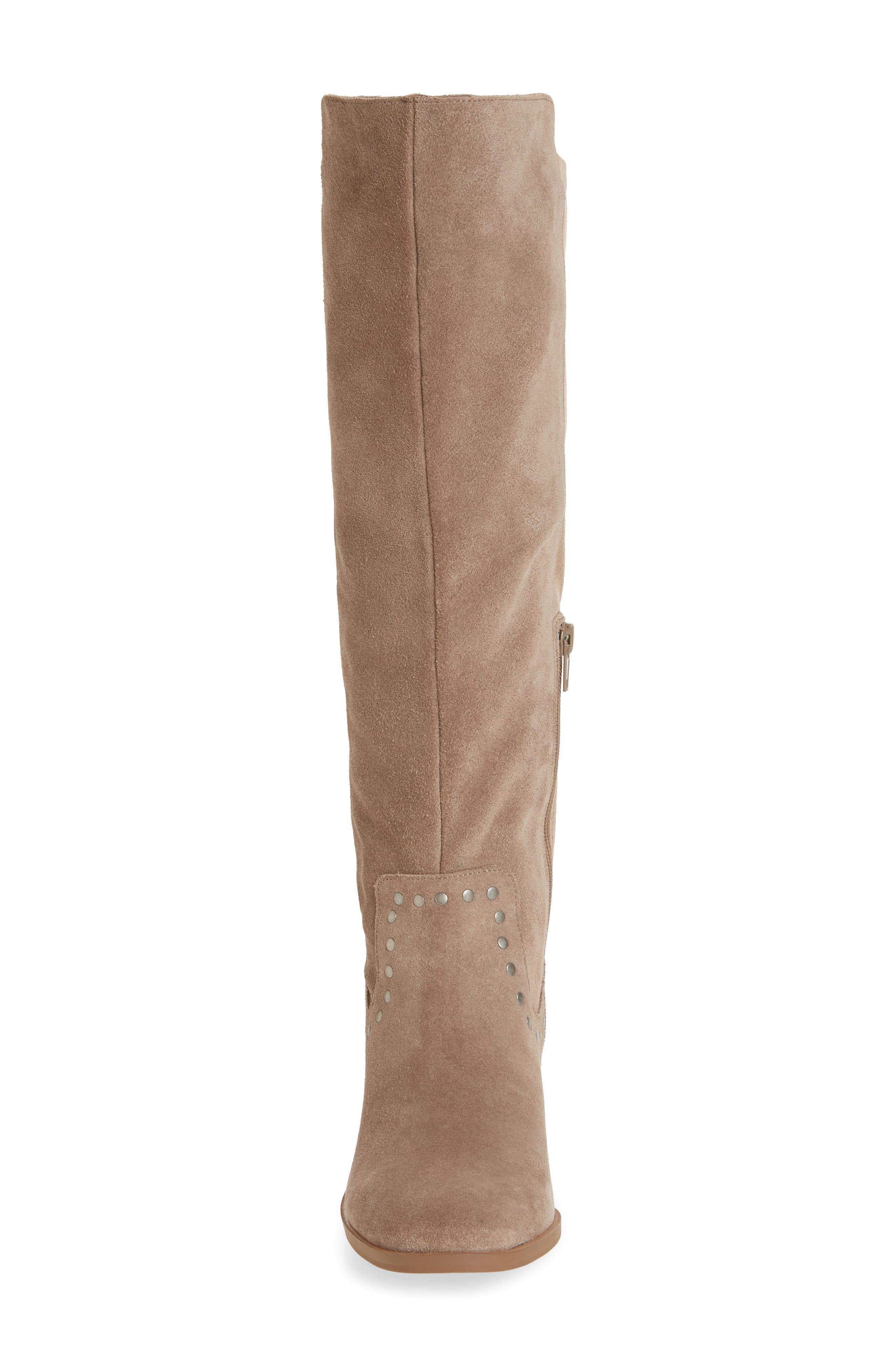 Calvenia Knee High Boot,                             Alternate thumbnail 4, color,                             FALL TAUPE SUEDE