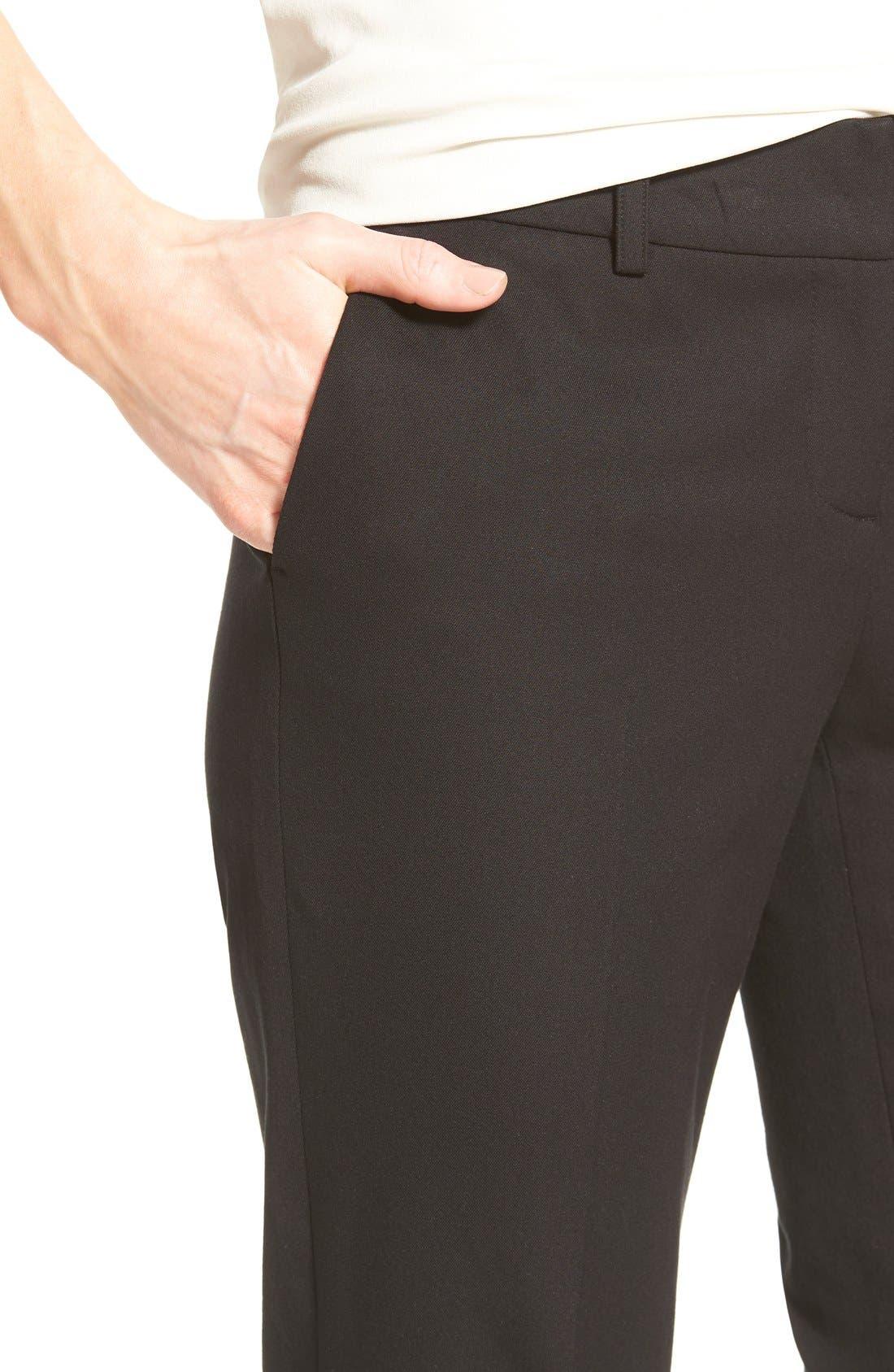 Crop Stretch Cotton Pants,                             Alternate thumbnail 92, color,