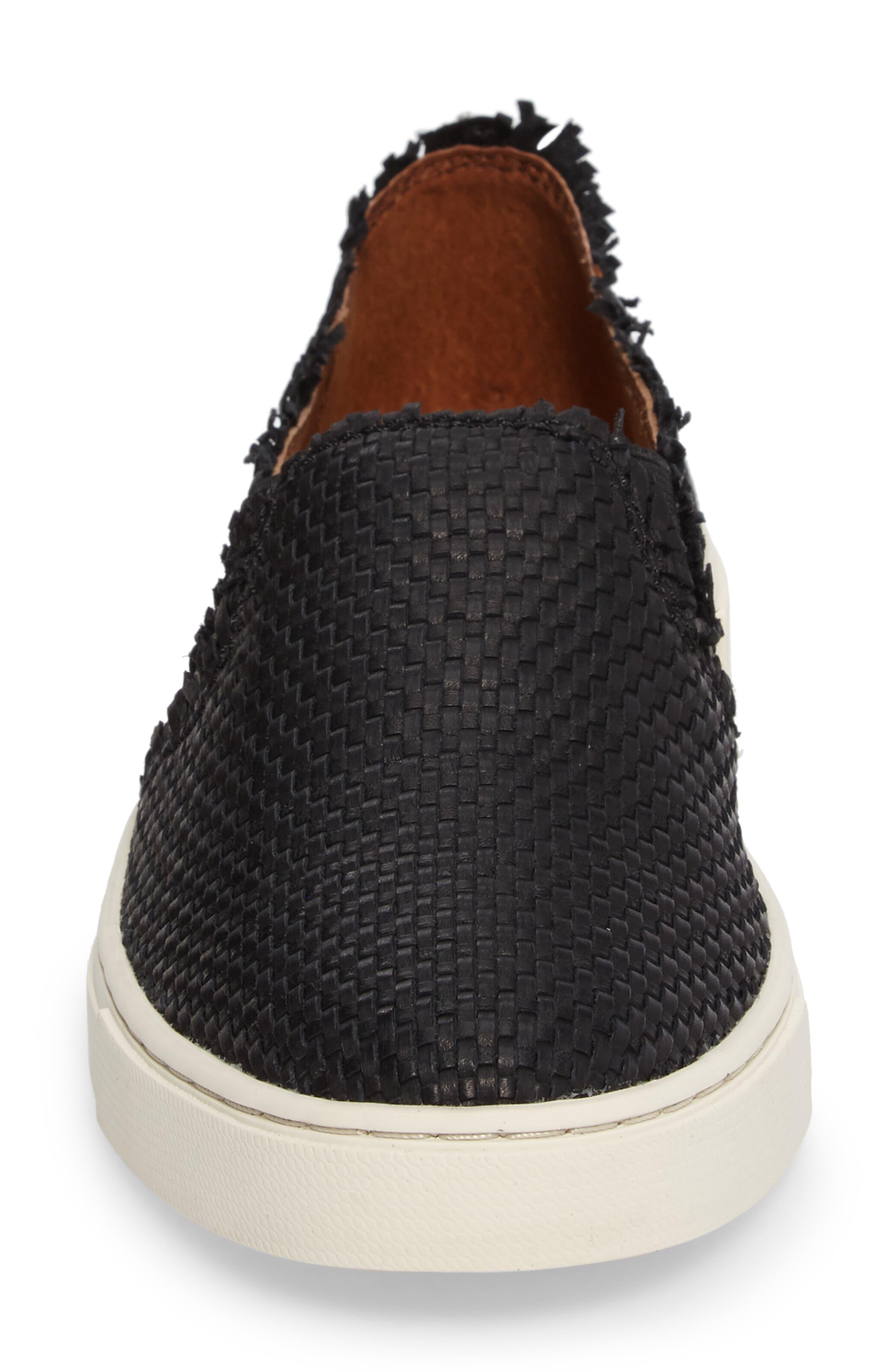 Ivy Fray Woven Slip-On Sneaker,                             Alternate thumbnail 4, color,                             001
