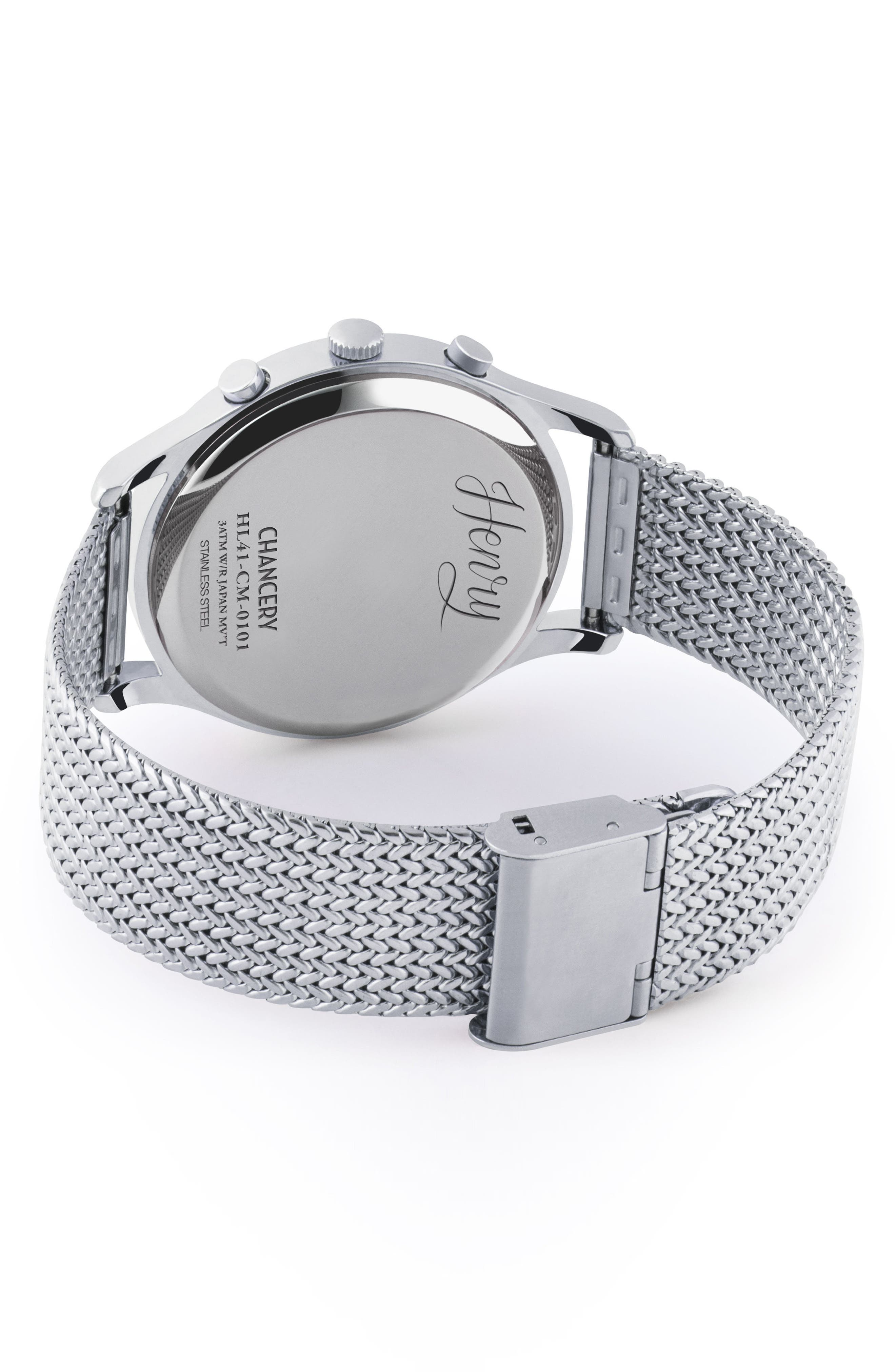 Chancery Chronological Mesh Strap Watch, 41mm,                             Alternate thumbnail 3, color,                             040