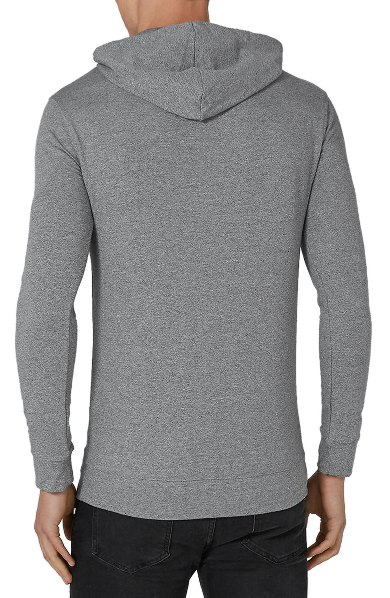 Muscle Fit Hoodie,                             Alternate thumbnail 2, color,                             020