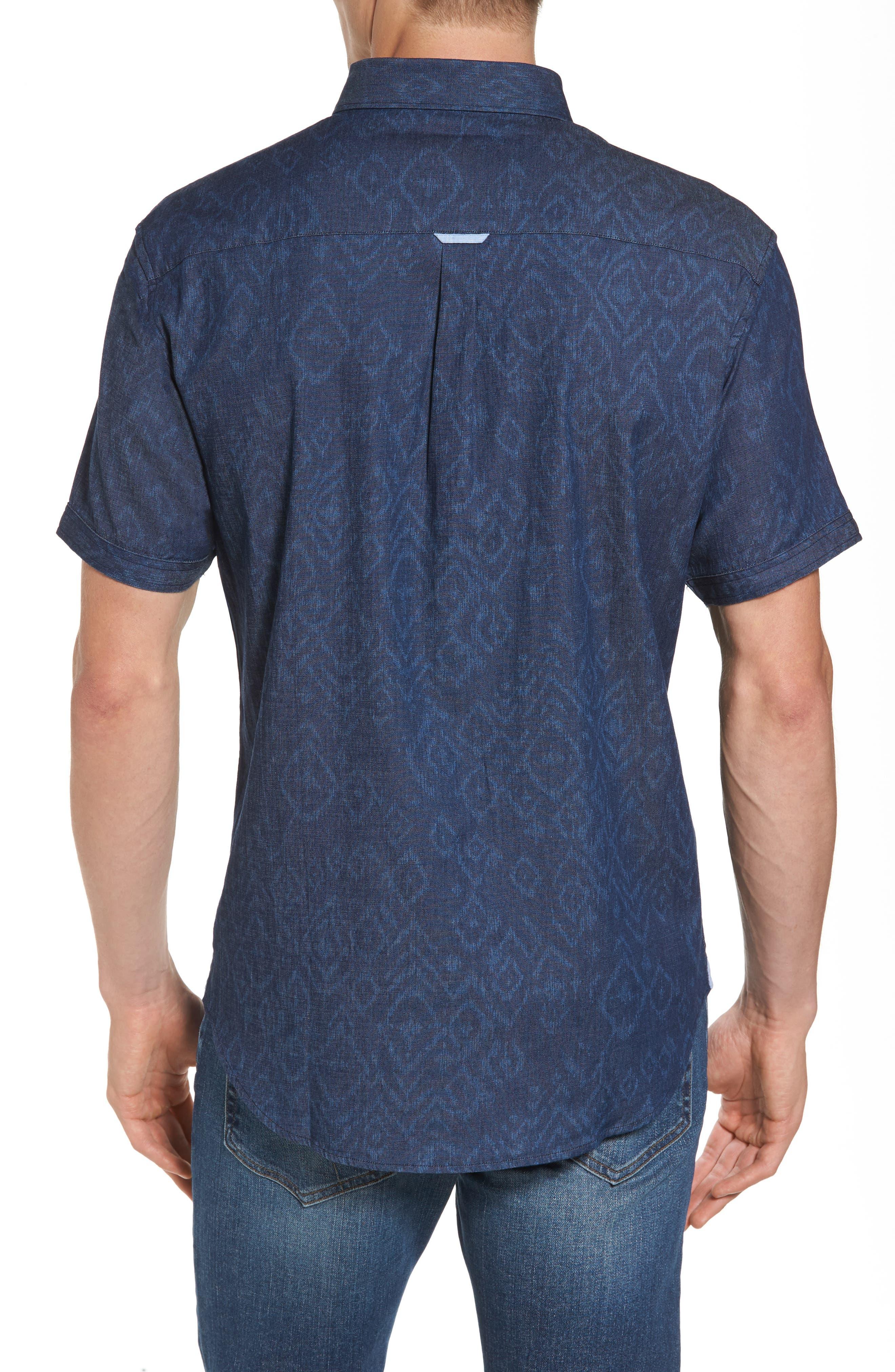 Marquee Moon Print Woven Shirt,                             Alternate thumbnail 2, color,                             410