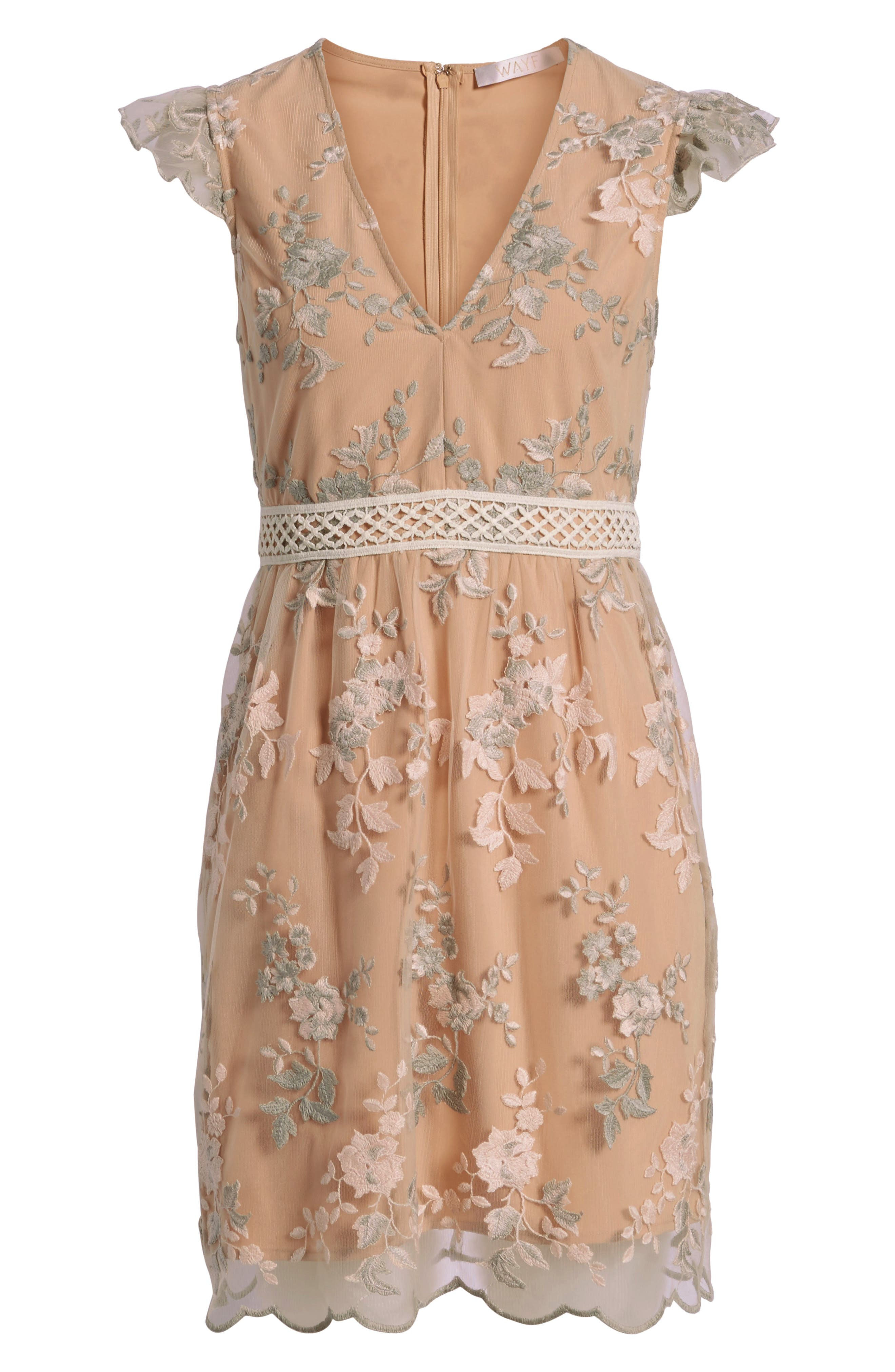 Oakfield Embroidered Minidress,                             Alternate thumbnail 7, color,                             650