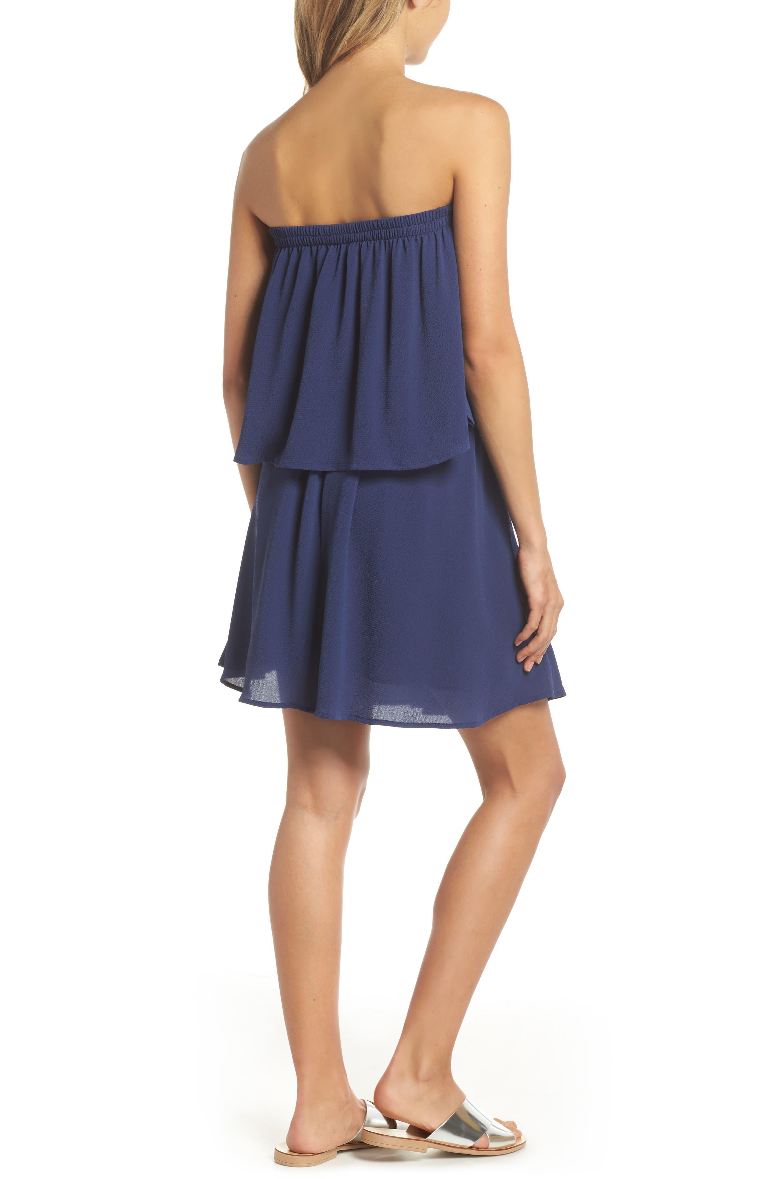 Strapless Popover Shift Dress,                             Alternate thumbnail 2, color,