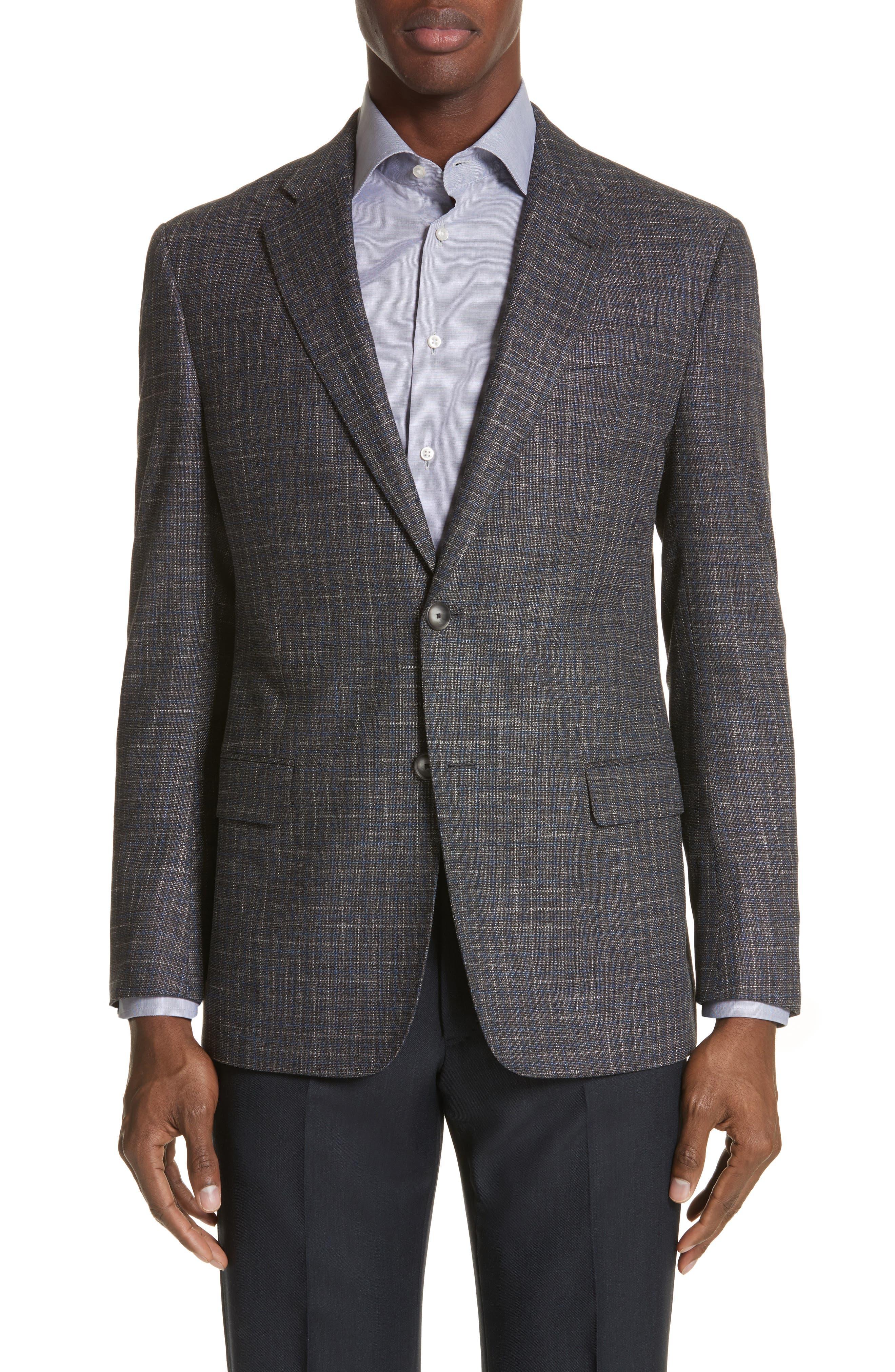 G-Line Trim Fit Check Sport Coat,                         Main,                         color,