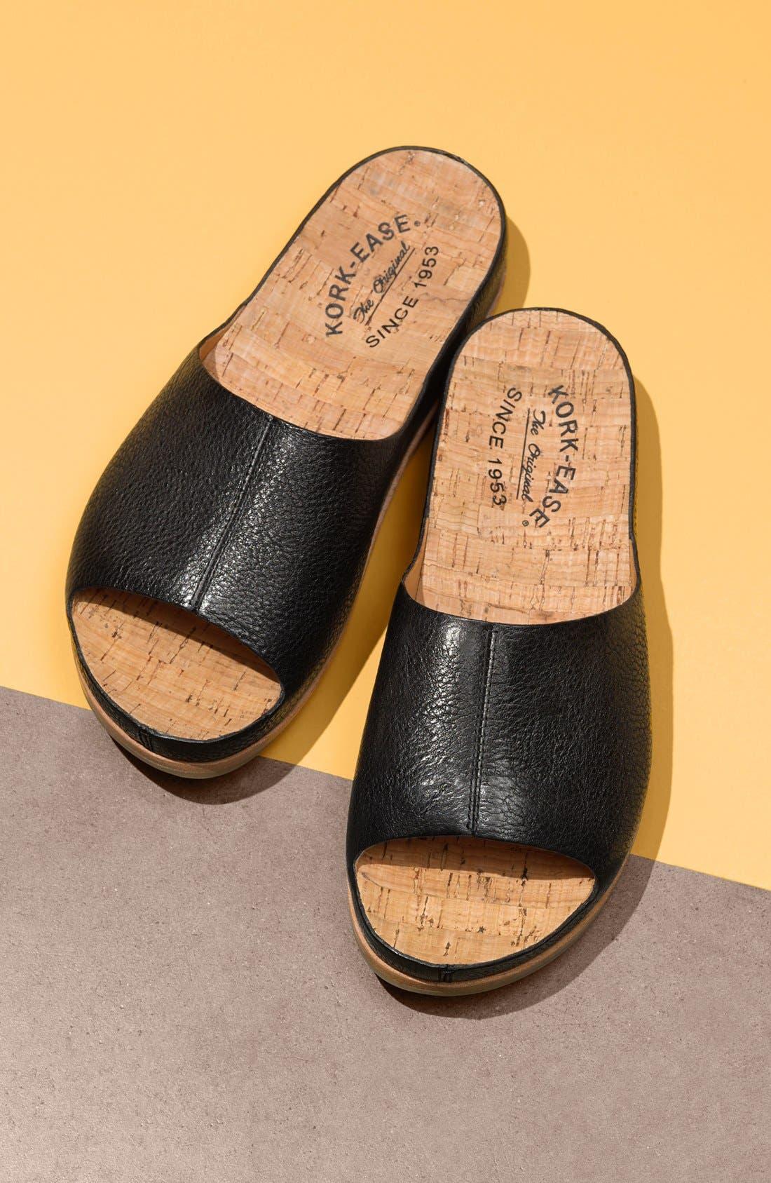 'Tutsi' Slide Sandal,                             Alternate thumbnail 7, color,                             LIGHT GREY LEATHER