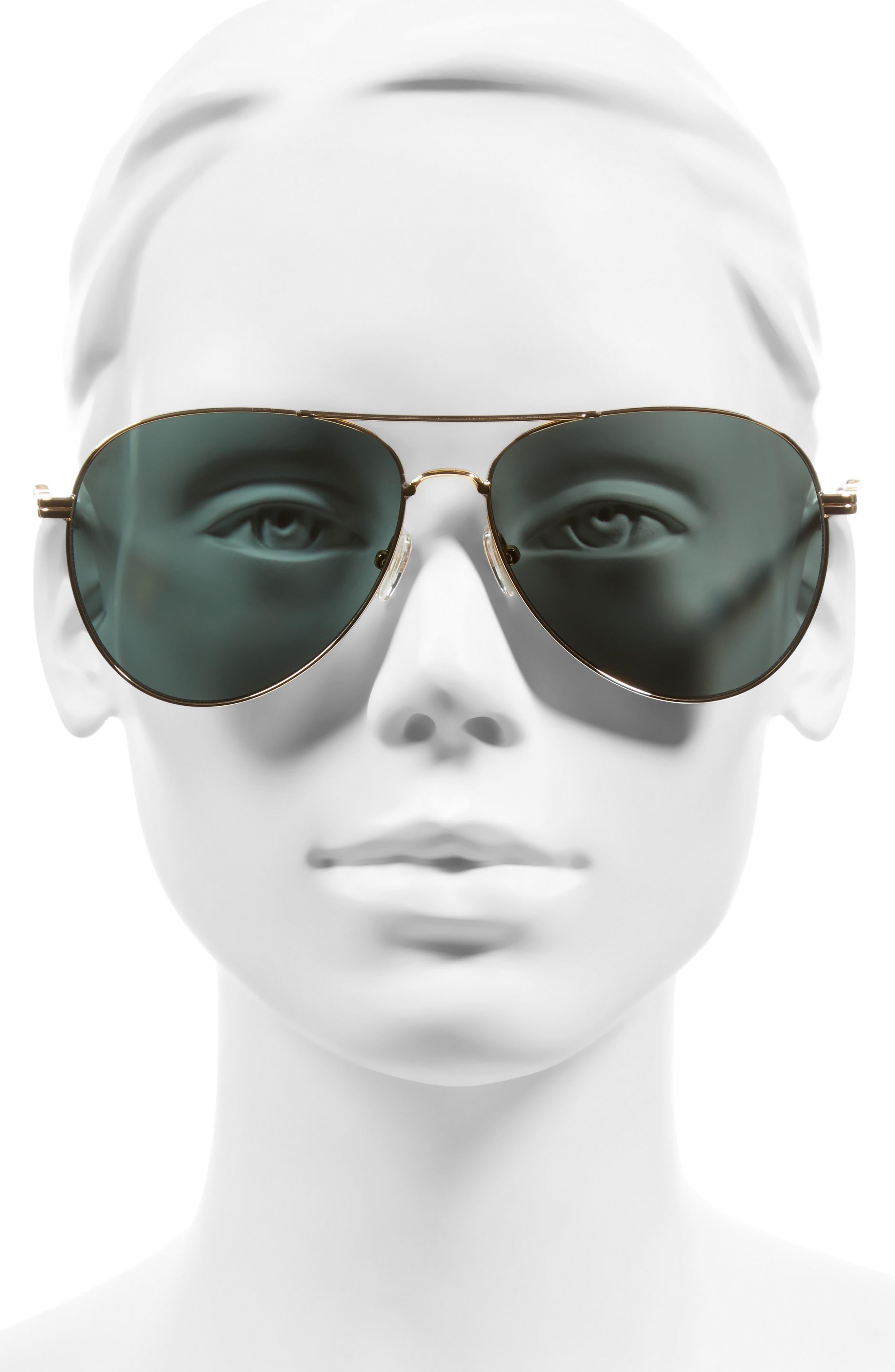 Lodi 62mm Mirrored Aviator Sunglasses,                             Alternate thumbnail 4, color,                             710
