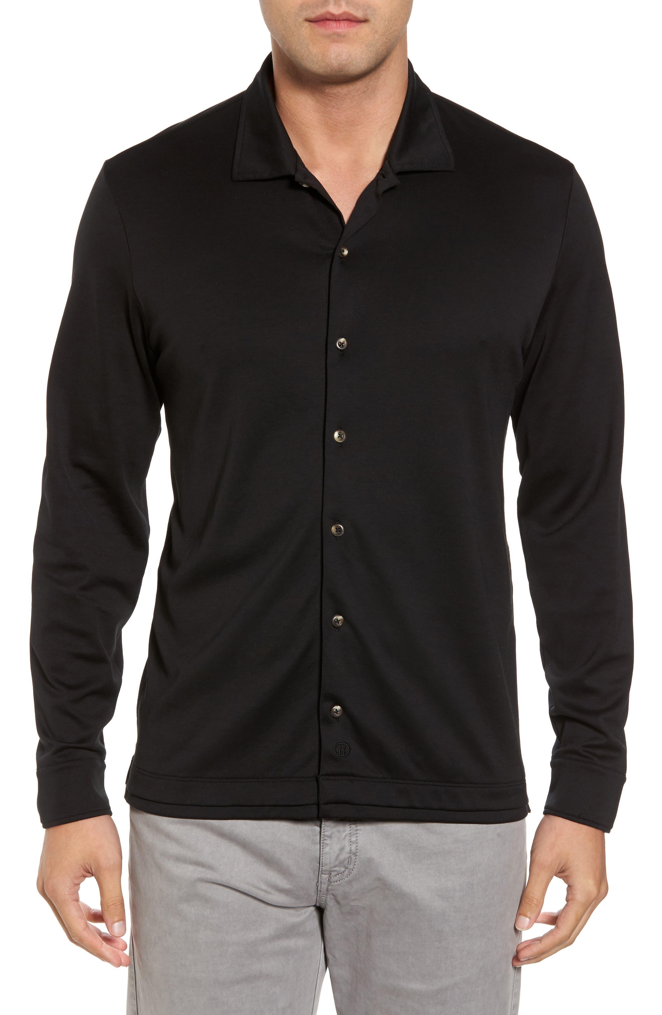 Interlock Knit Sport Shirt,                         Main,                         color, 002
