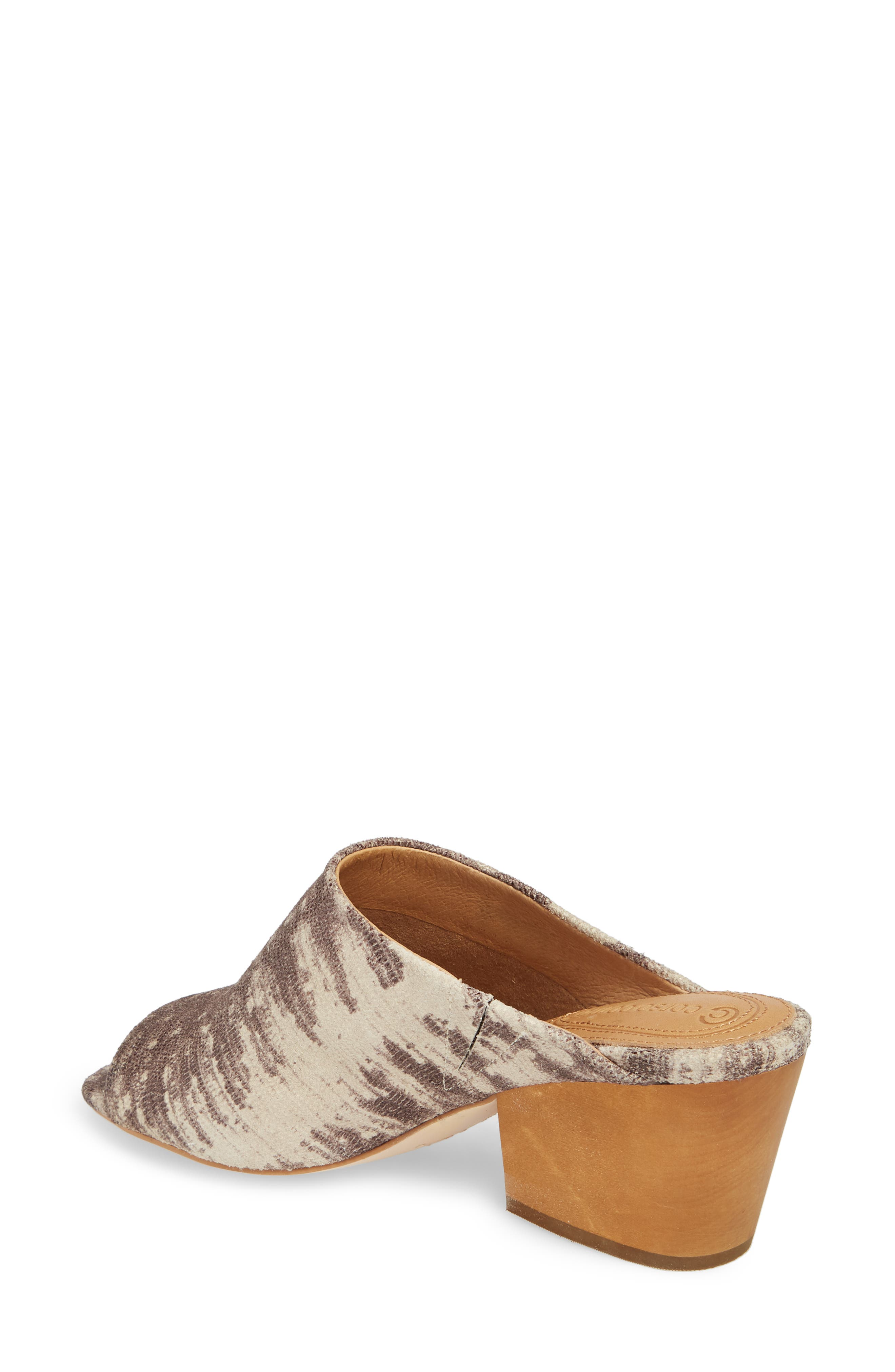 Intra Block Heel Mule,                             Alternate thumbnail 2, color,                             NATURAL LEATHER