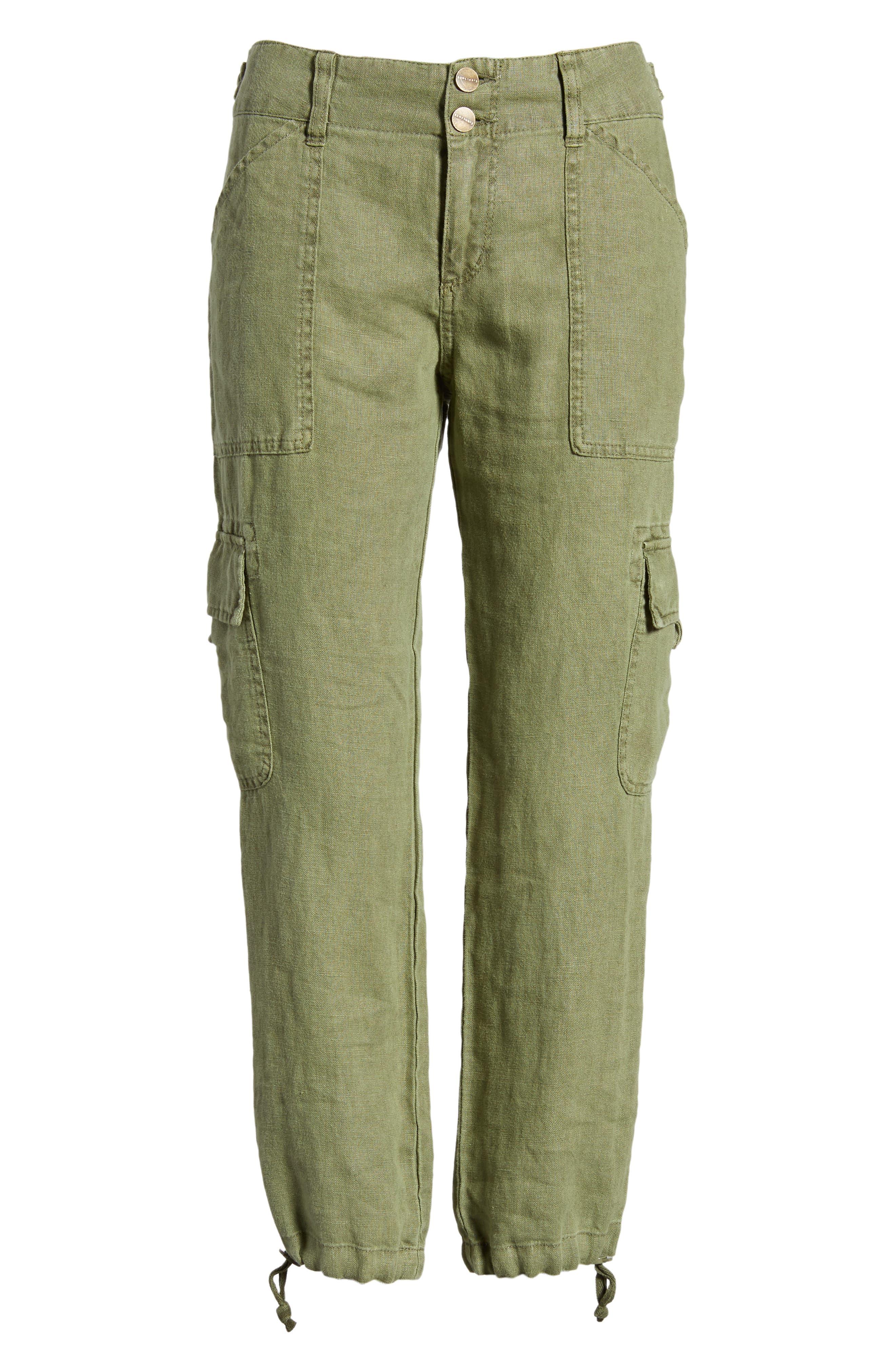 Terrain Linen Crop Cargo Pants,                             Alternate thumbnail 37, color,