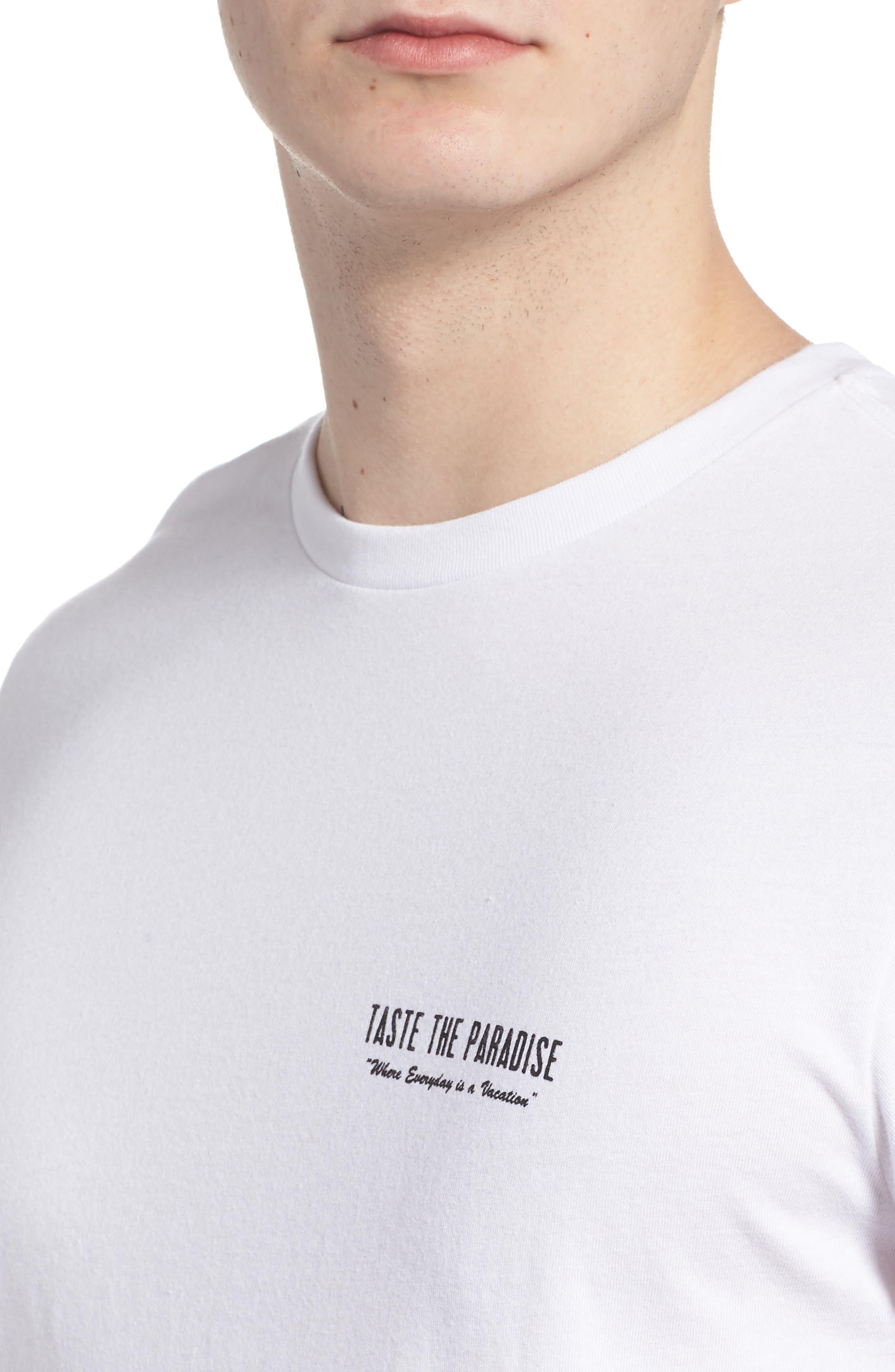 Taste the Paradise Graphic T-Shirt,                             Alternate thumbnail 4, color,                             100