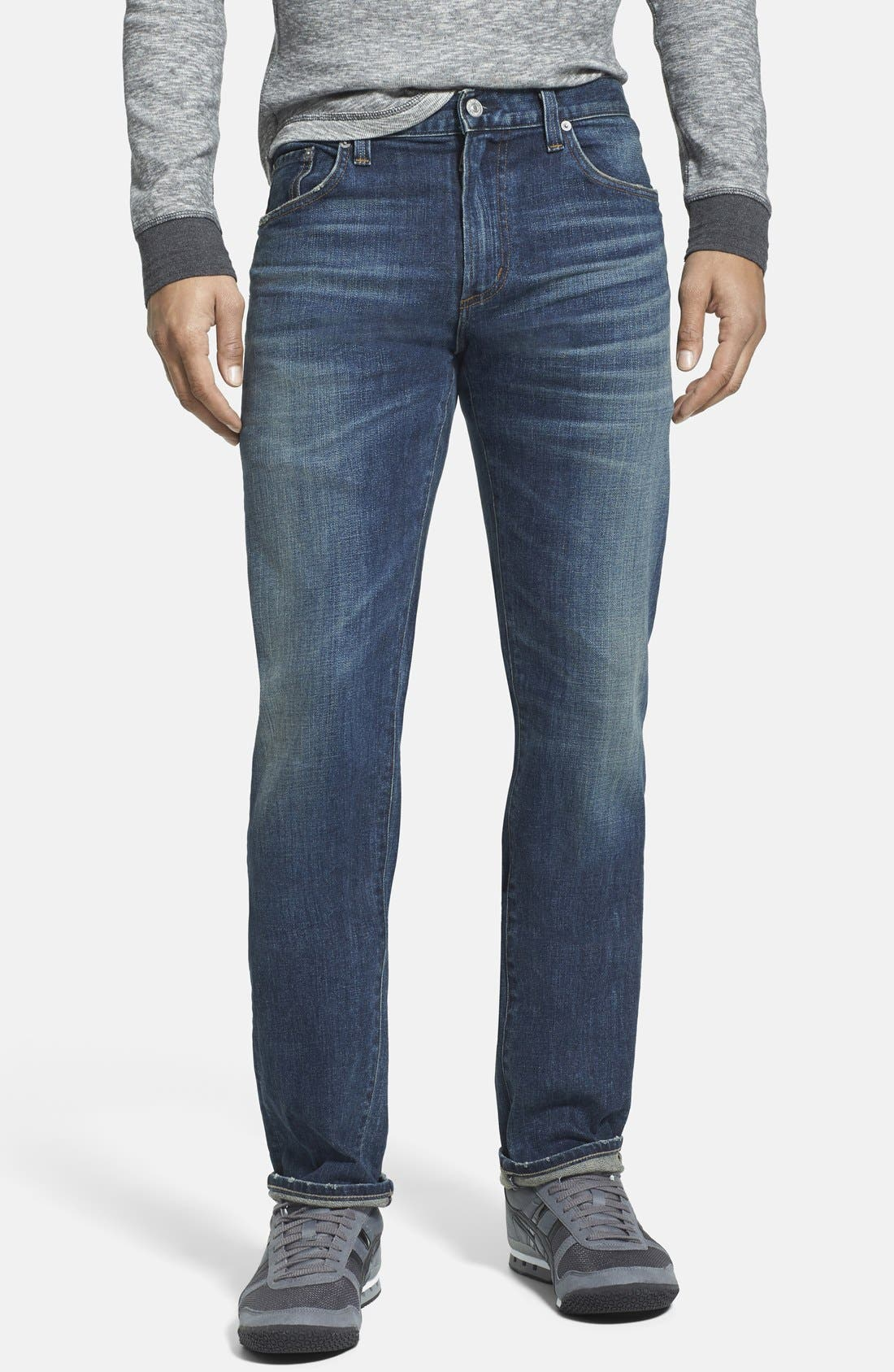 'Core' Slim Fit Jeans,                             Main thumbnail 1, color,                             MORRISON