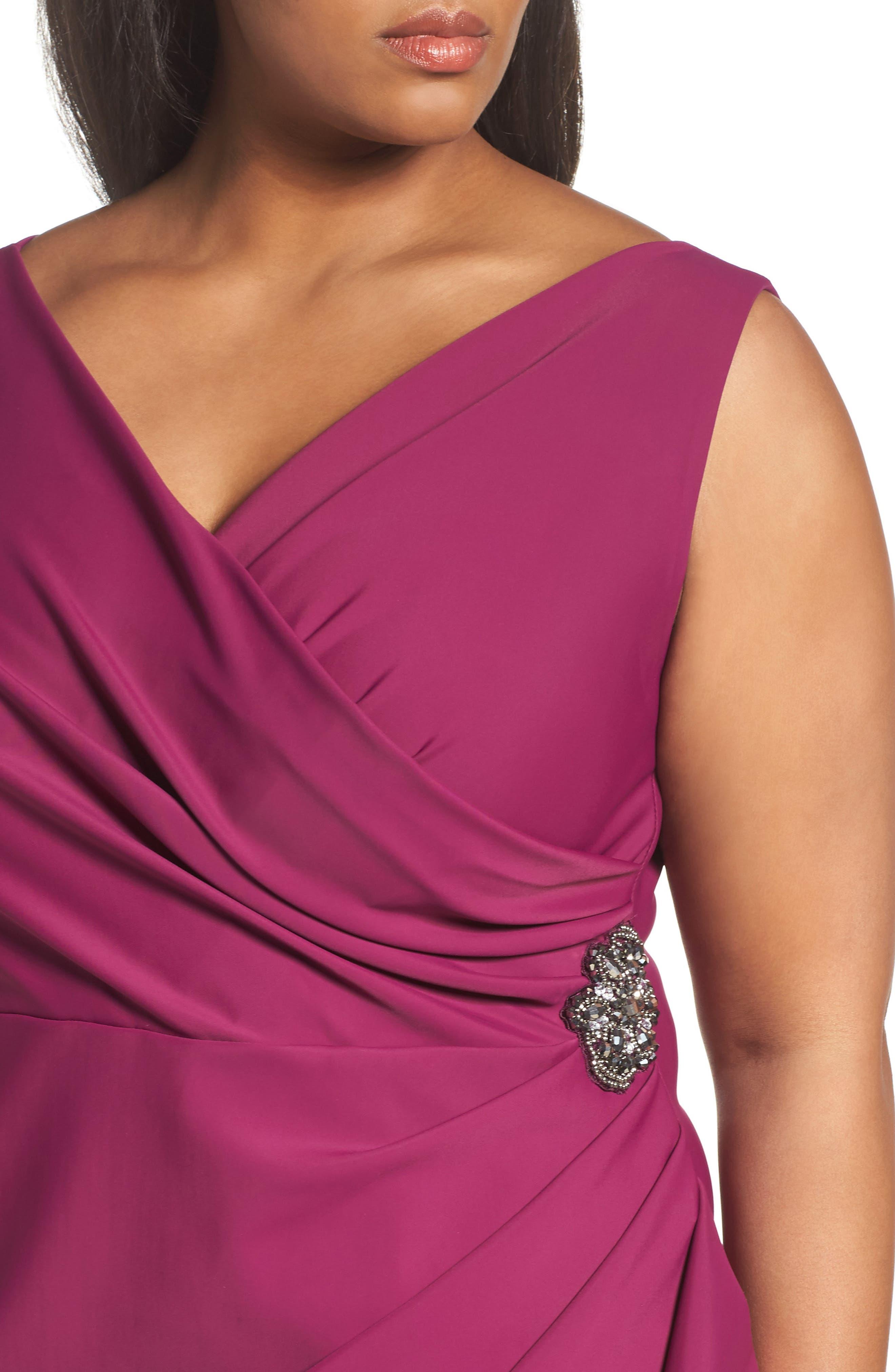 Embellished Surplice Sheath Dress,                             Alternate thumbnail 28, color,