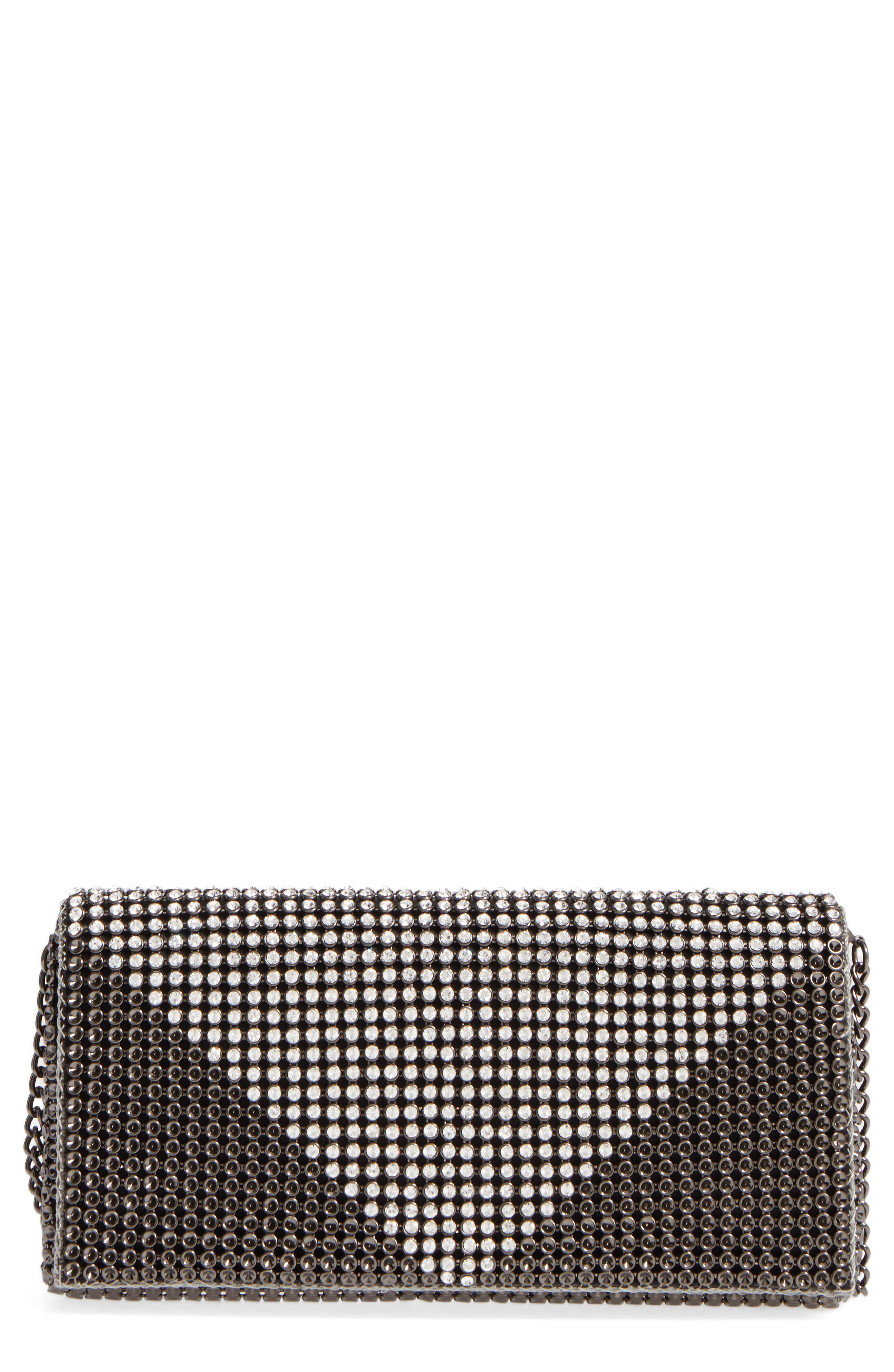 Crystal Triangle Clutch,                         Main,                         color, 041
