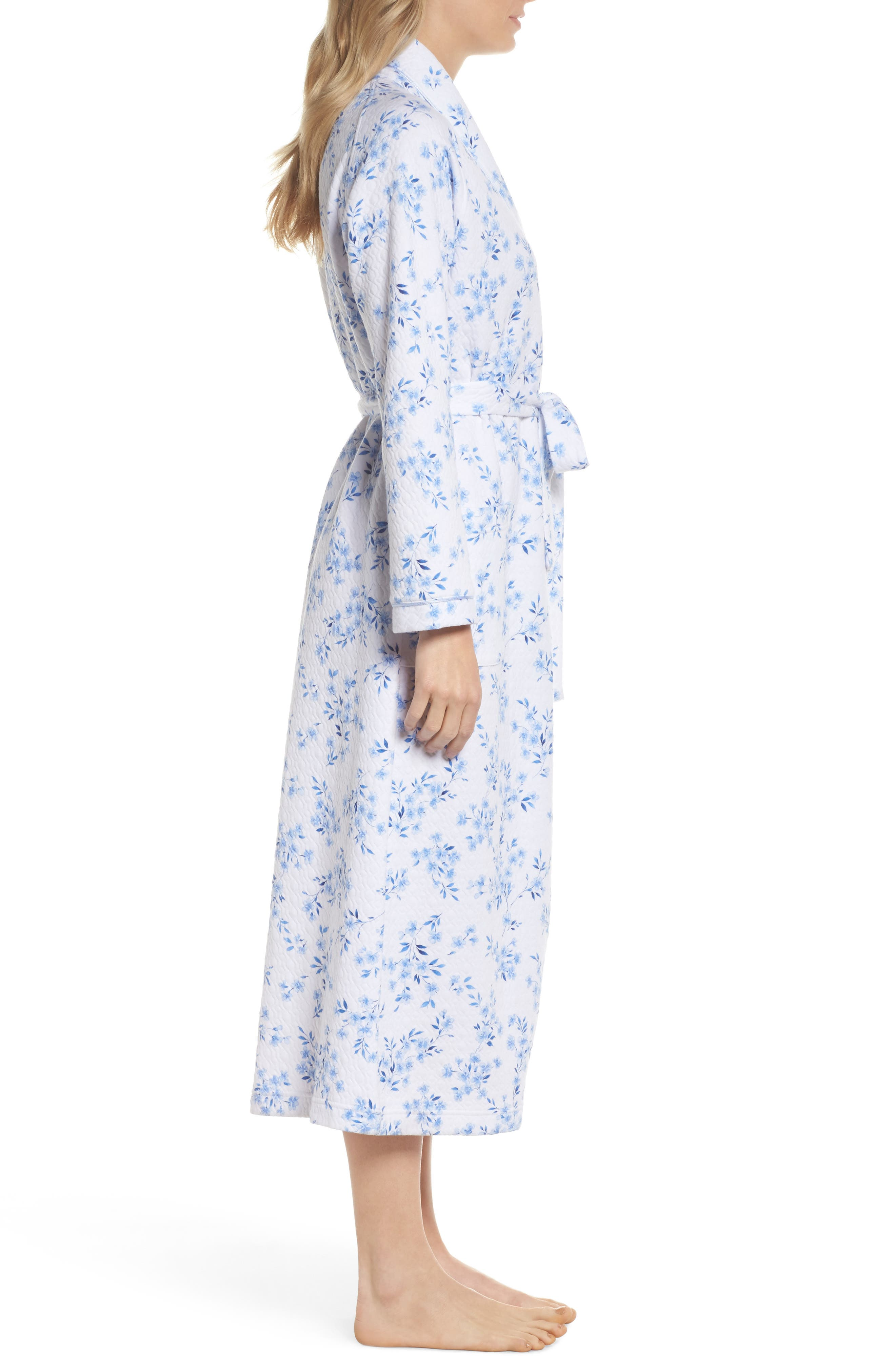 Quilted Robe,                             Alternate thumbnail 3, color,                             FLORAL TWIN