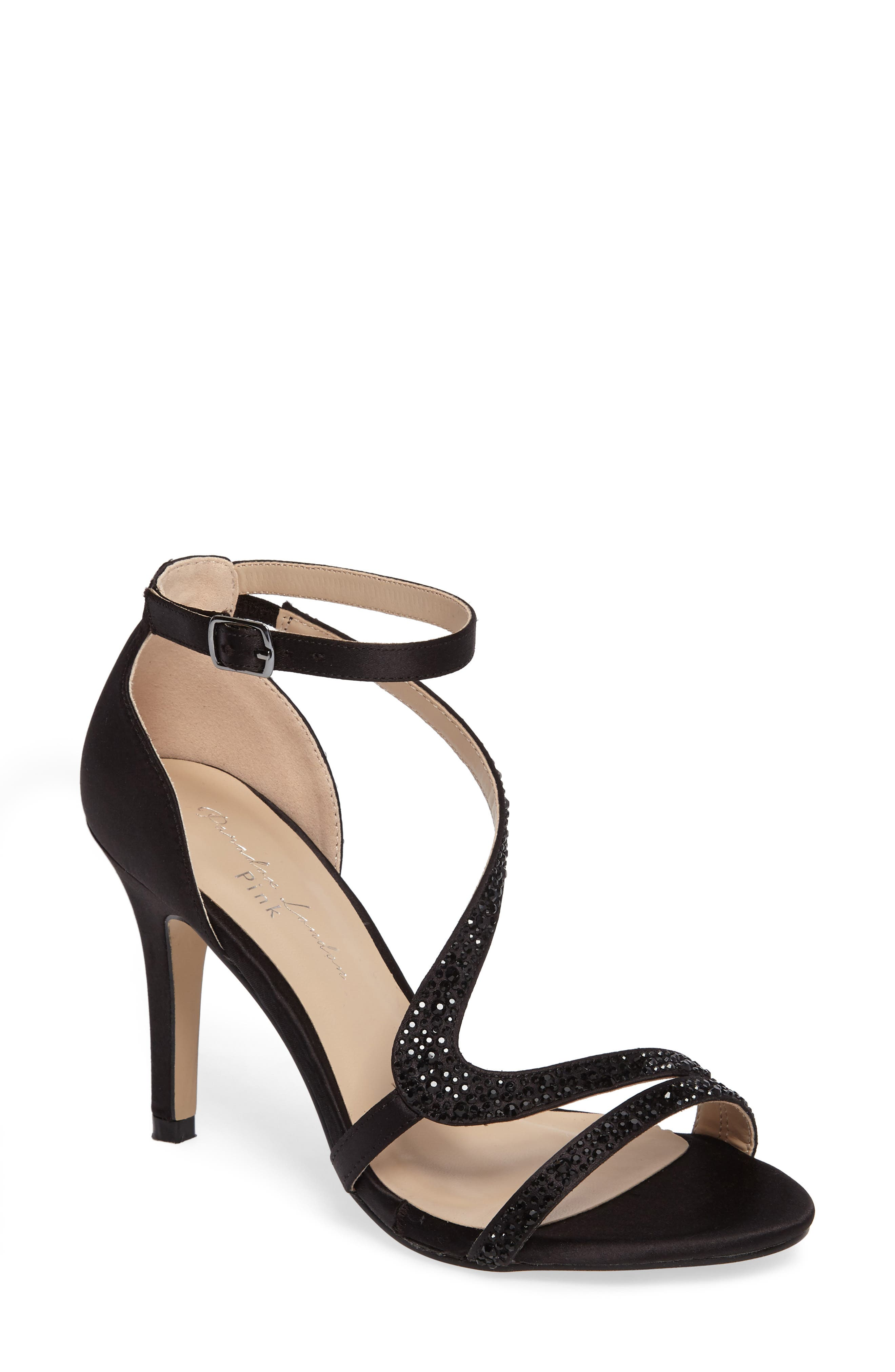 McKayla Embellished Serpentine Sandal,                         Main,                         color, 001