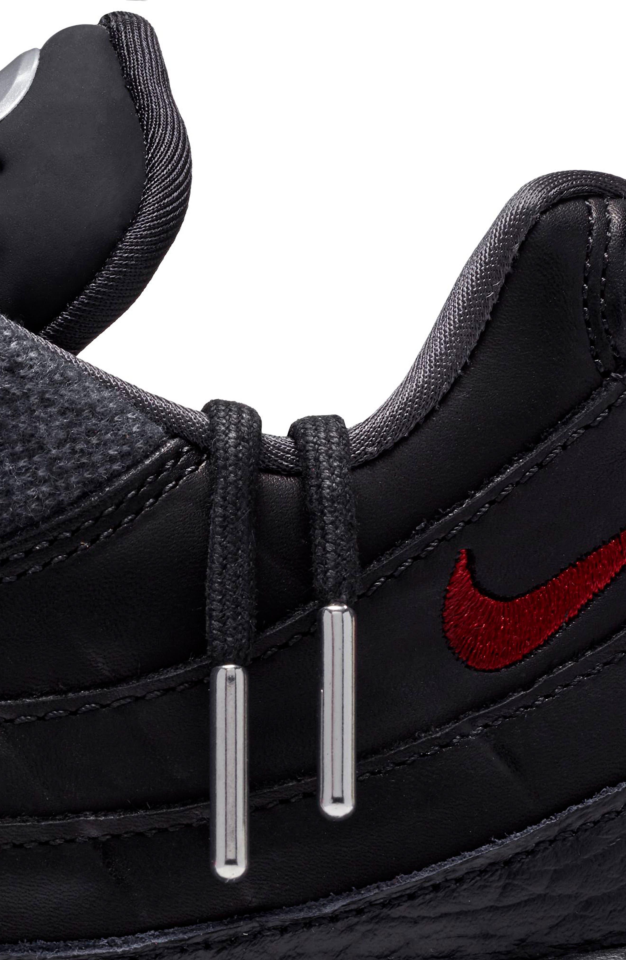 Air Max 95 NRG Sneaker,                             Alternate thumbnail 8, color,                             BLACK/ TEAM RED/ ANTHRACITE
