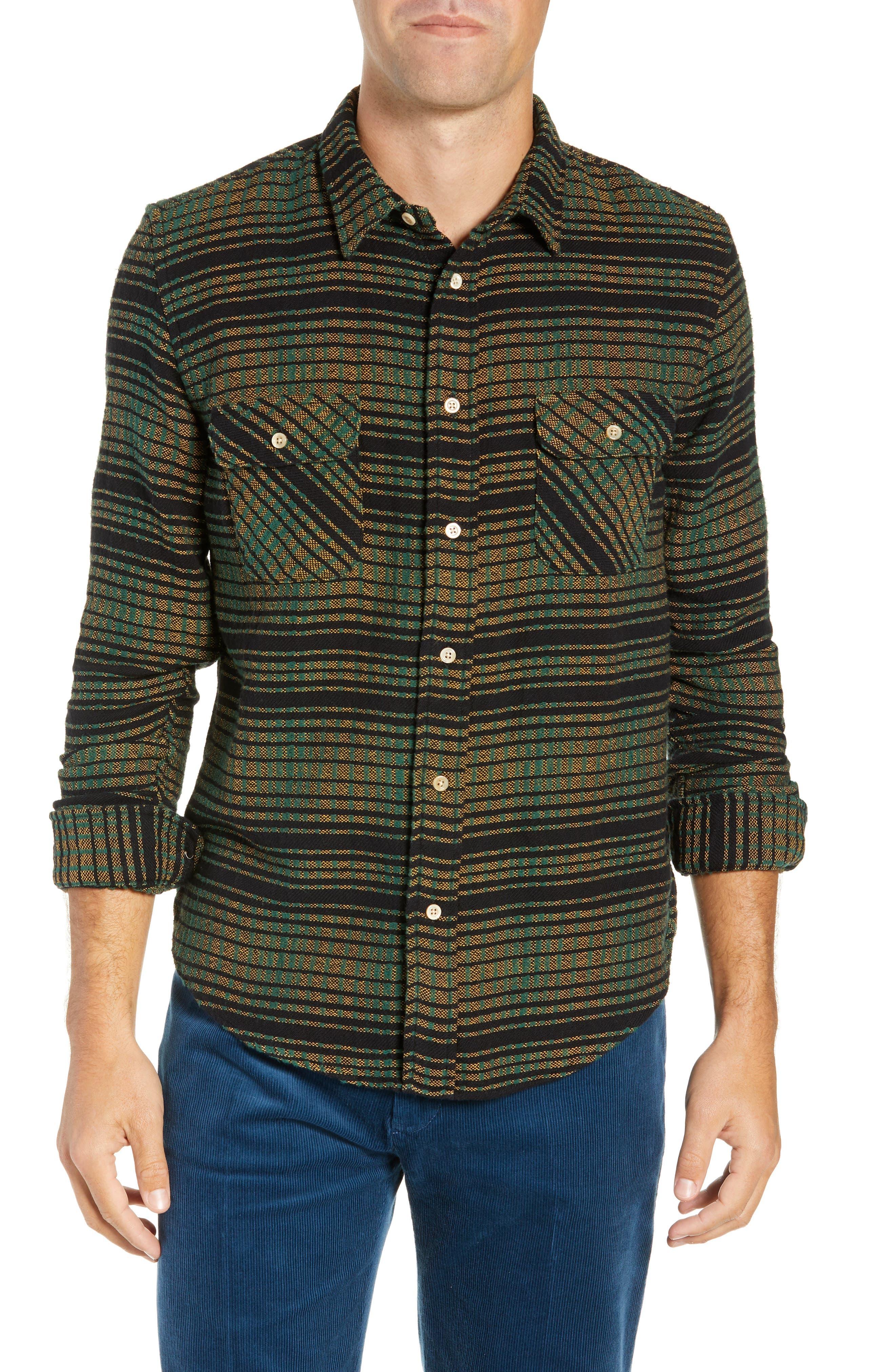 LEVI'S<SUP>®</SUP> VINTAGE CLOTHING Shorthorn Slim Fit Sport Shirt, Main, color, 300